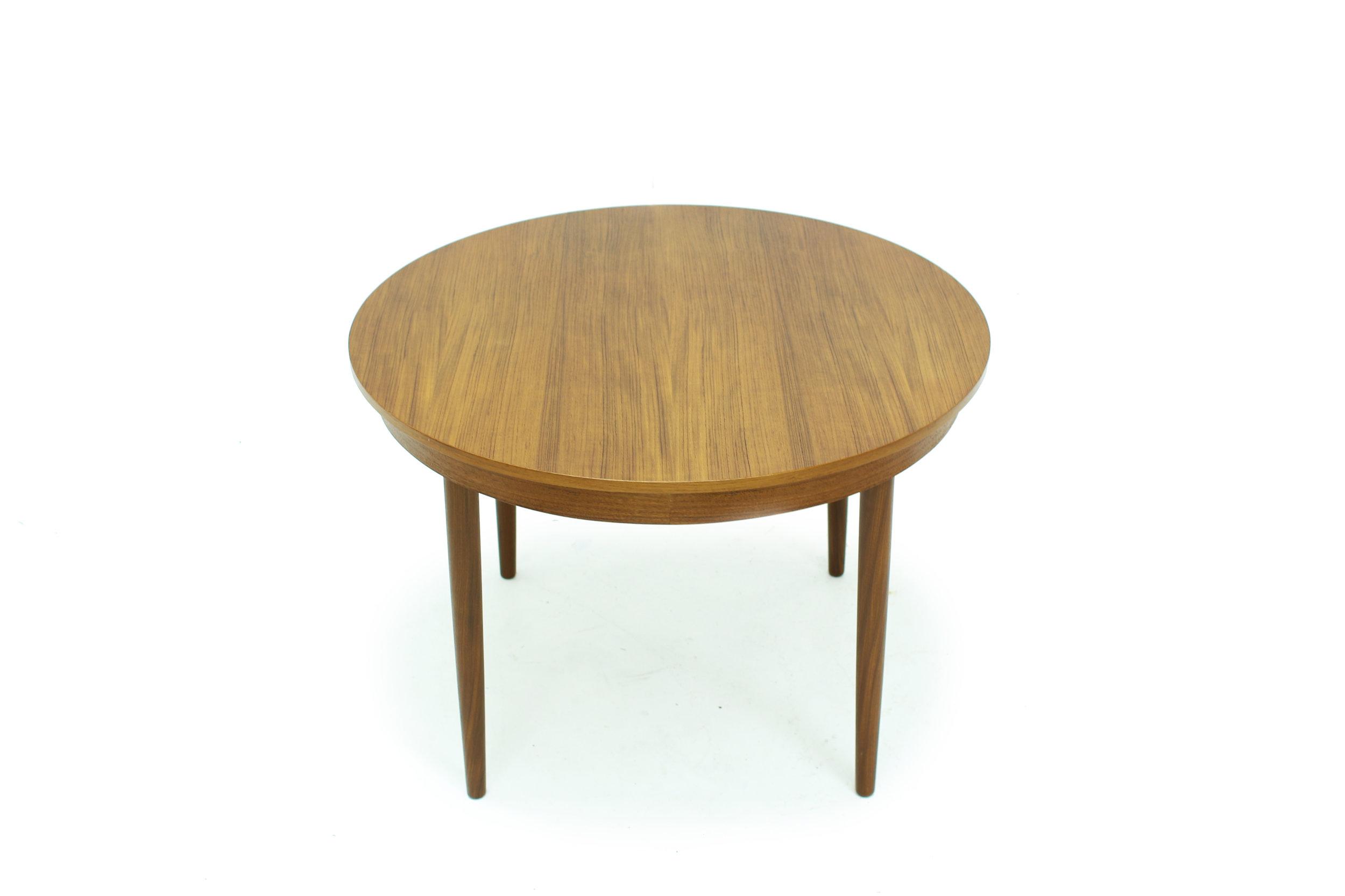 MCM Round Teak Dining Table Made in Denmark(1).jpg