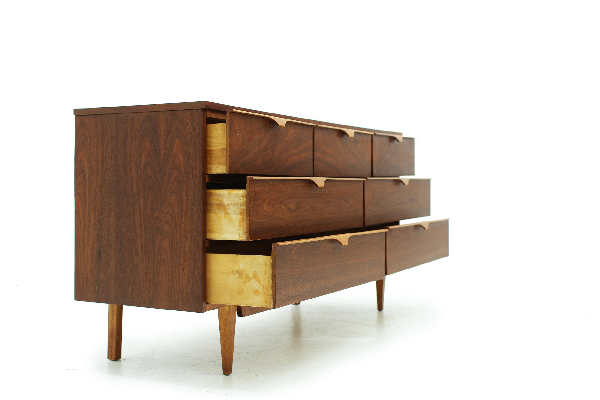 Mid Century 7 Drawer Walnut Dresser (1).jpg