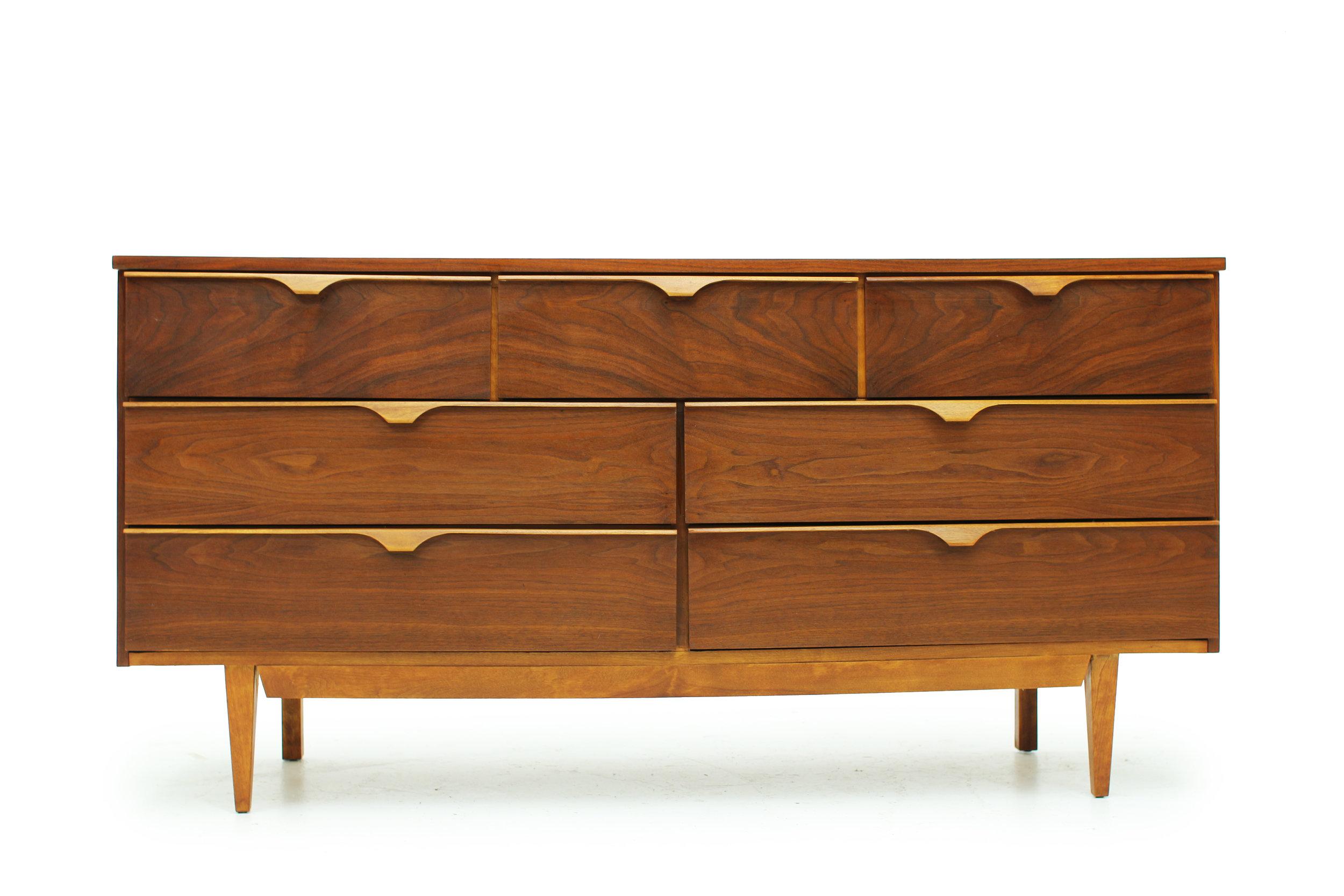 Mid Century 7 Drawer Walnut Dresser (3).jpg