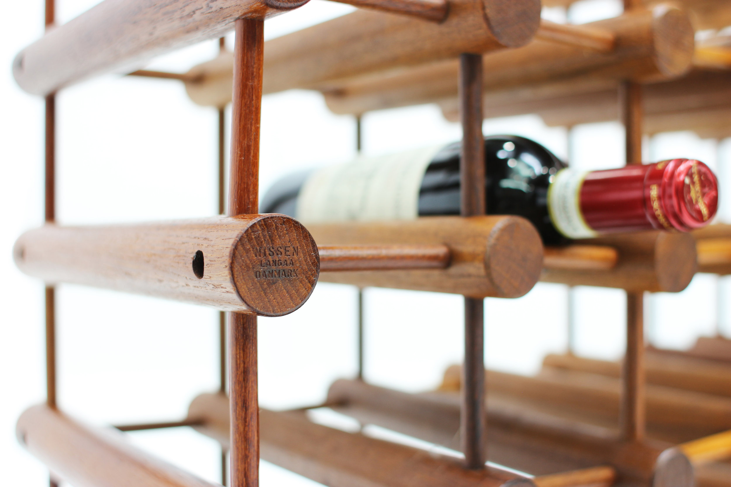 Danish Teak 60 Bottle Wine Rack by Nissen Langaa (4).jpg