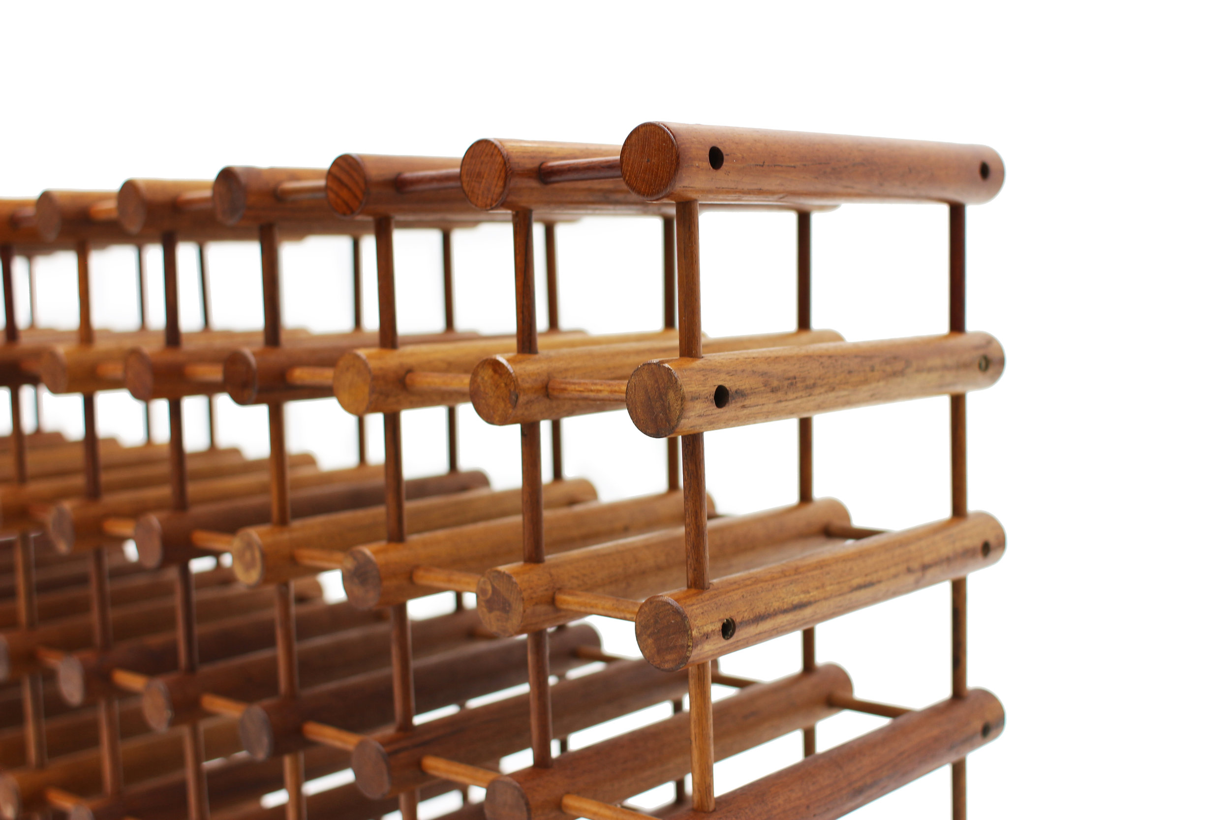 Danish Teak 60 Bottle Wine Rack by Nissen Langaa (1).jpg