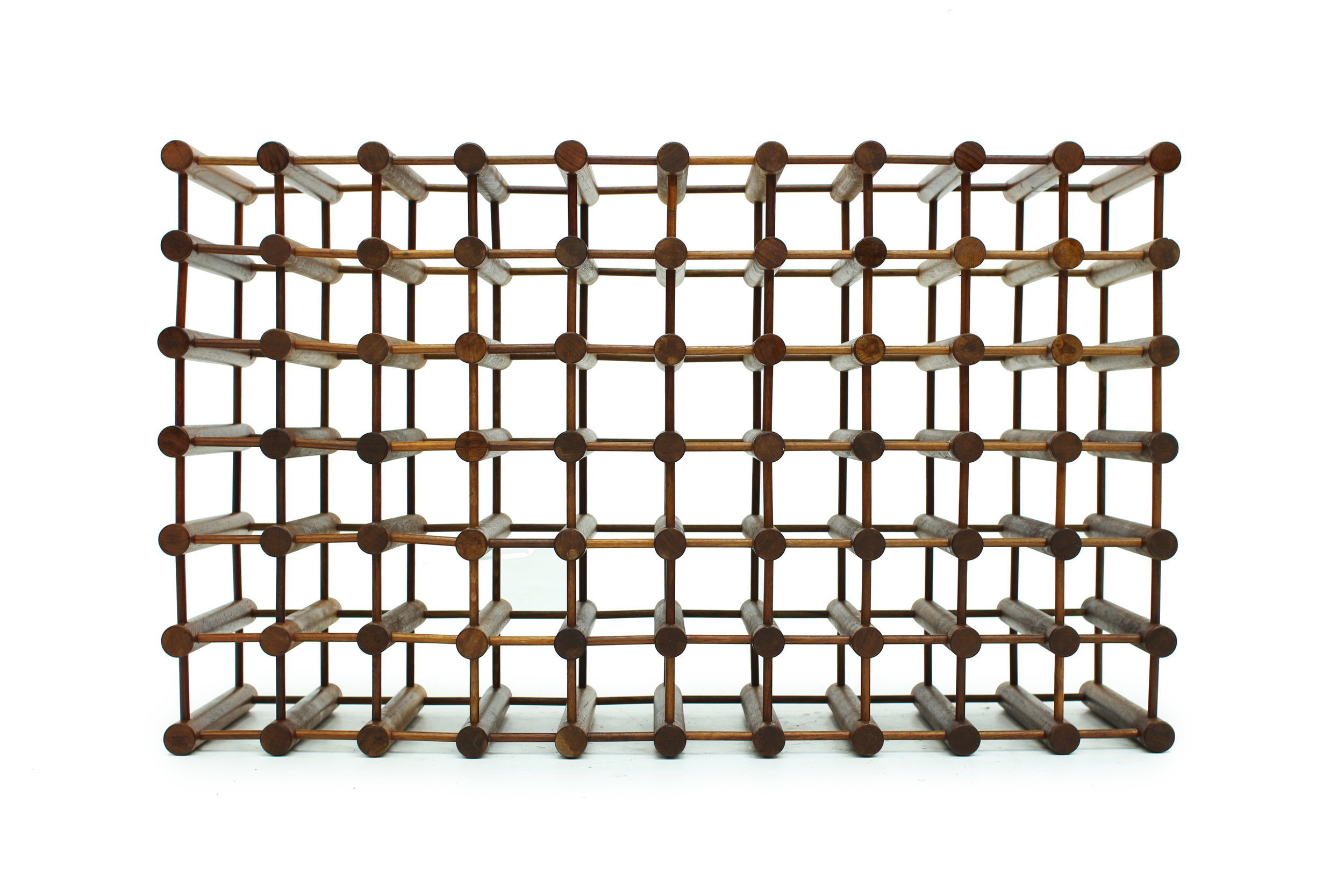 Danish Teak 60 Bottle Wine Rack by Nissen Langaa (3).jpg