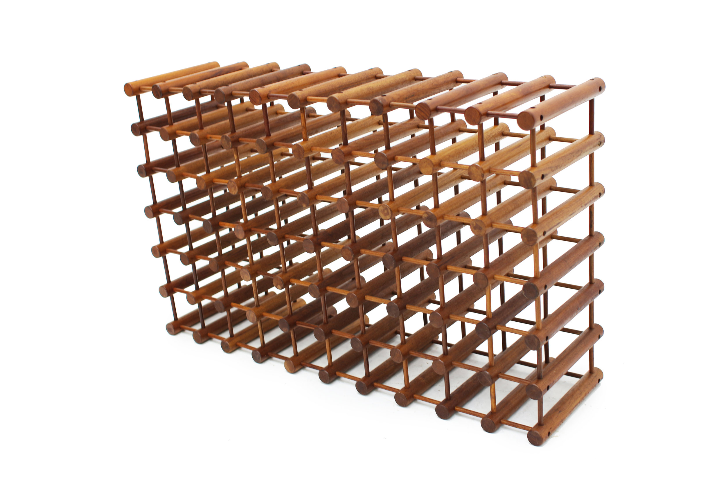 Danish Teak 60 Bottle Wine Rack by Nissen Langaa (2).jpg