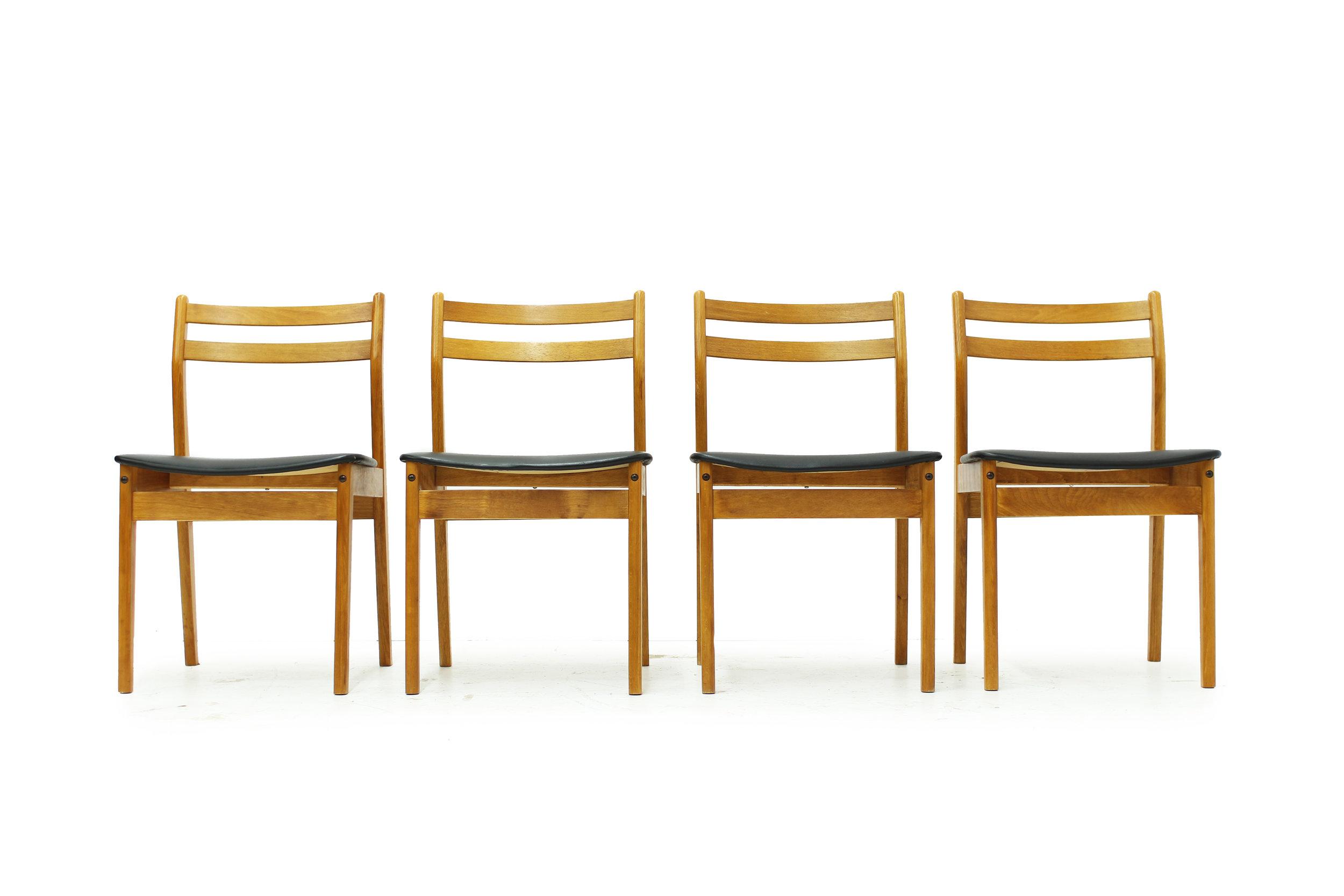 Mid Century Ladderback Dining Chairs - Set of Four.jpg