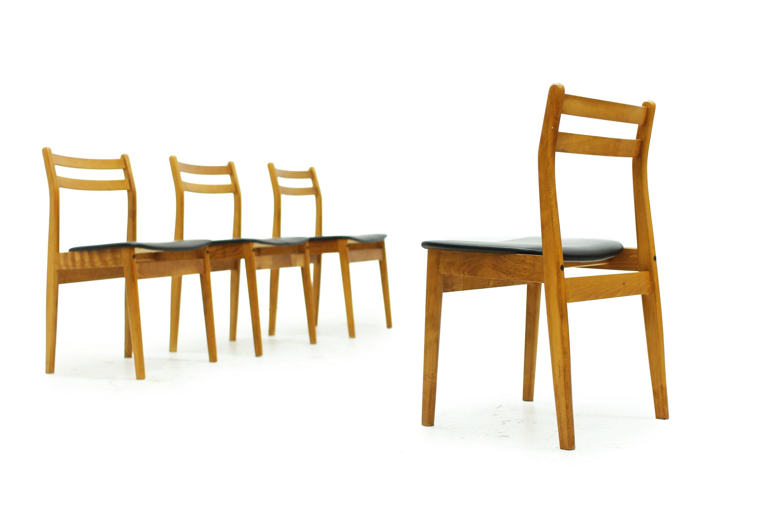 Mid Century Ladderback Dining Chairs - Set of Four (3).JPG