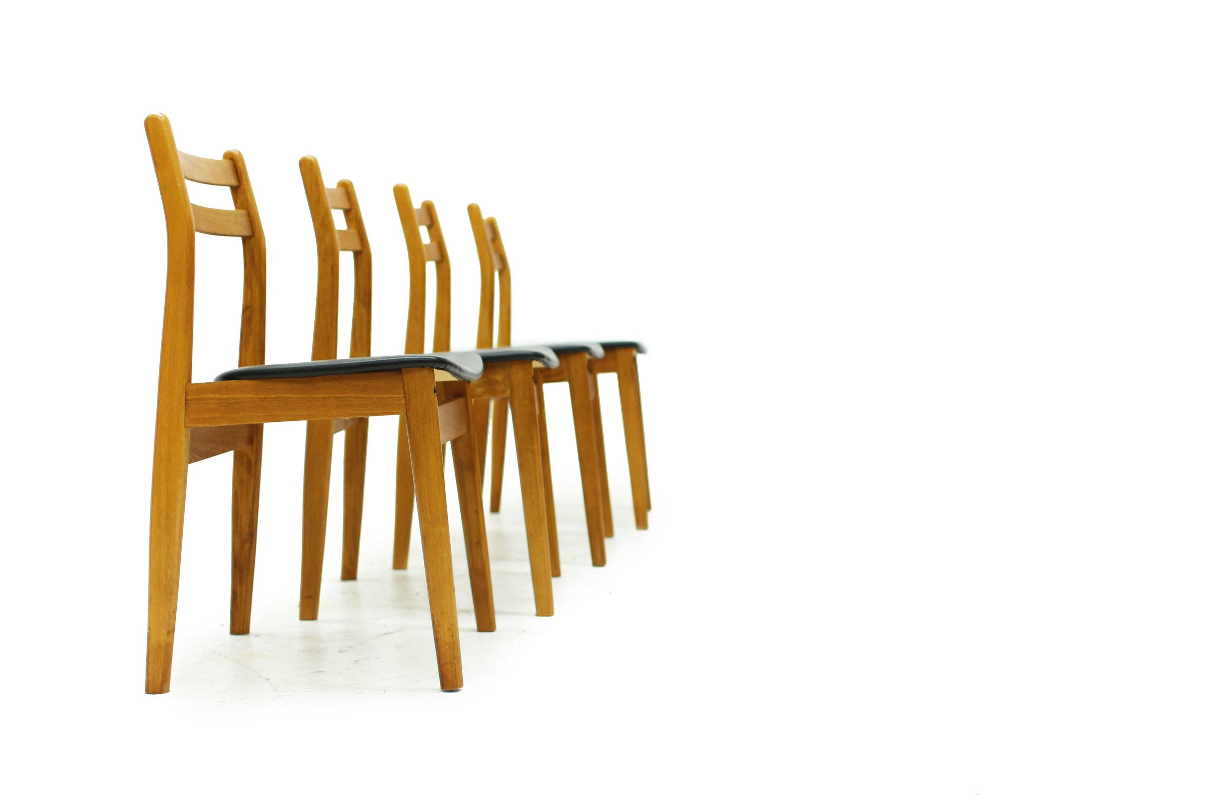 Mid Century Ladderback Dining Chairs - Set of Four (5).JPG