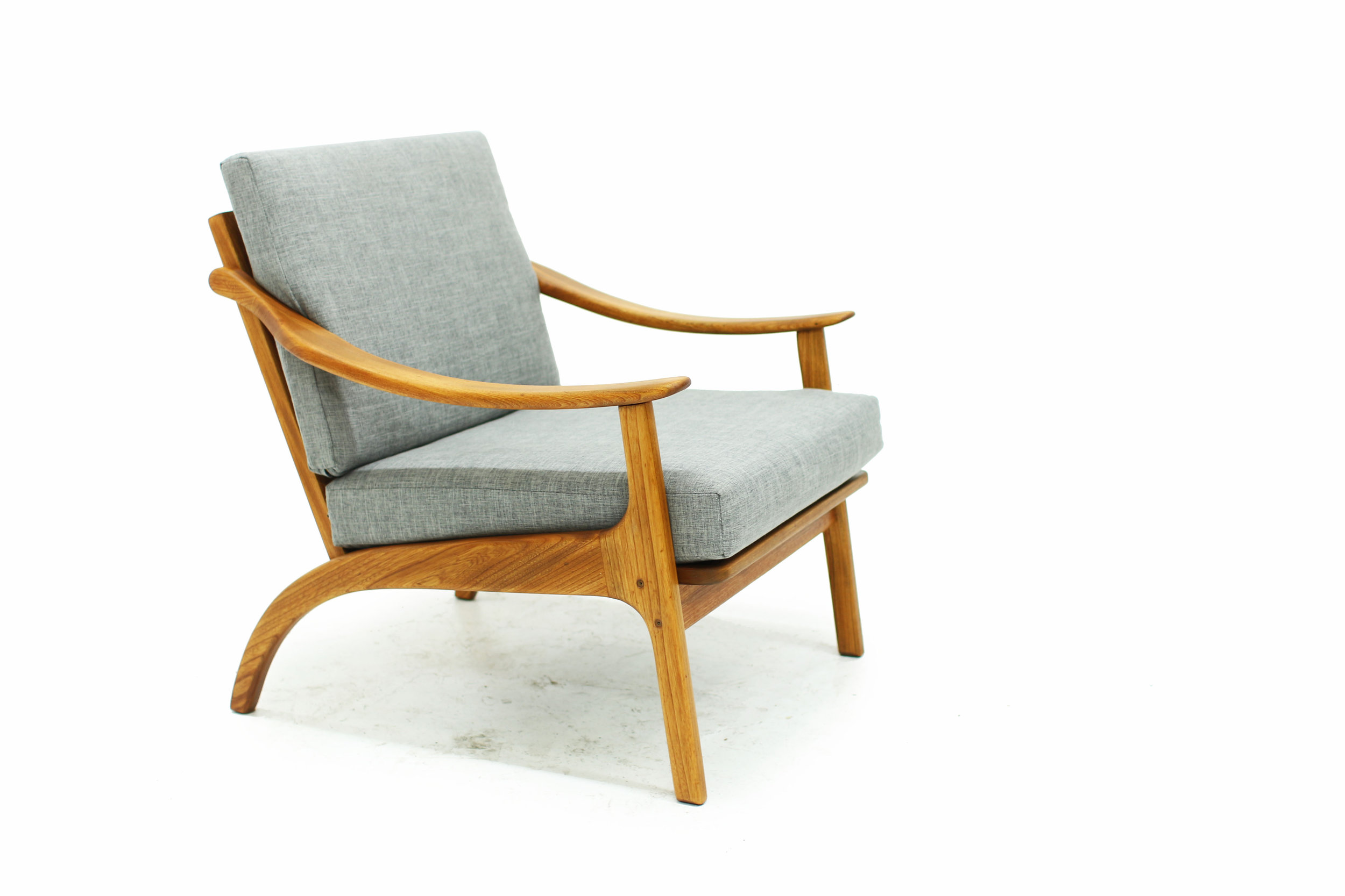 MCM Lounge Chair with New Grey Upholstery (1).jpg