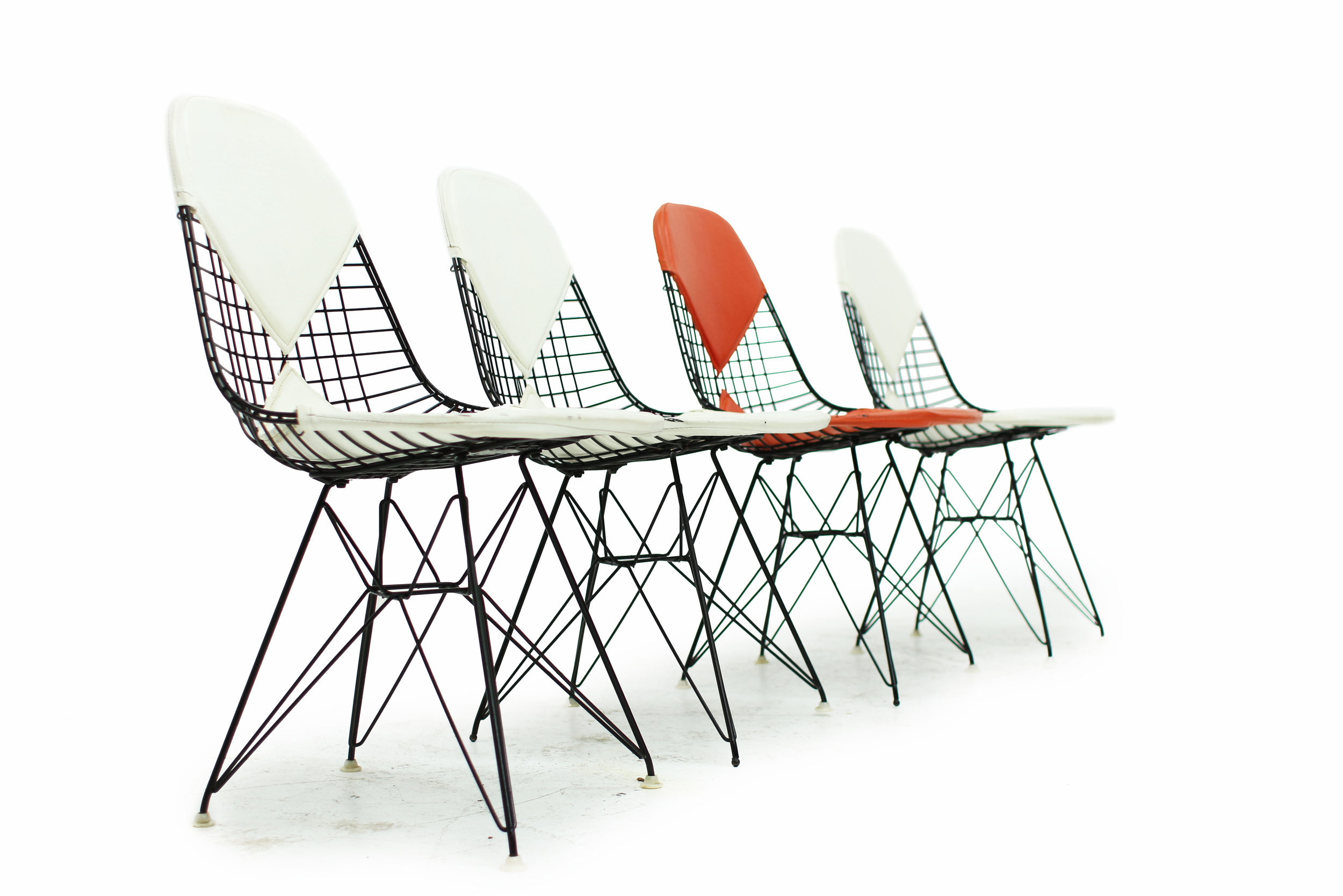 Original Vintage Black Eames Wire Chair with Bikini Cover on Eiffel Base - Made by Herman Miller (1).jpg
