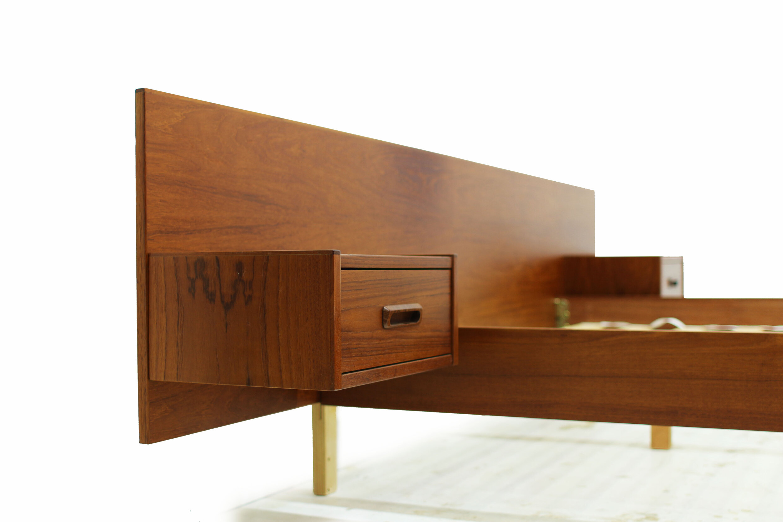 Mid Century Teak Double Platform Bed with Attached Nightstands (4).jpg