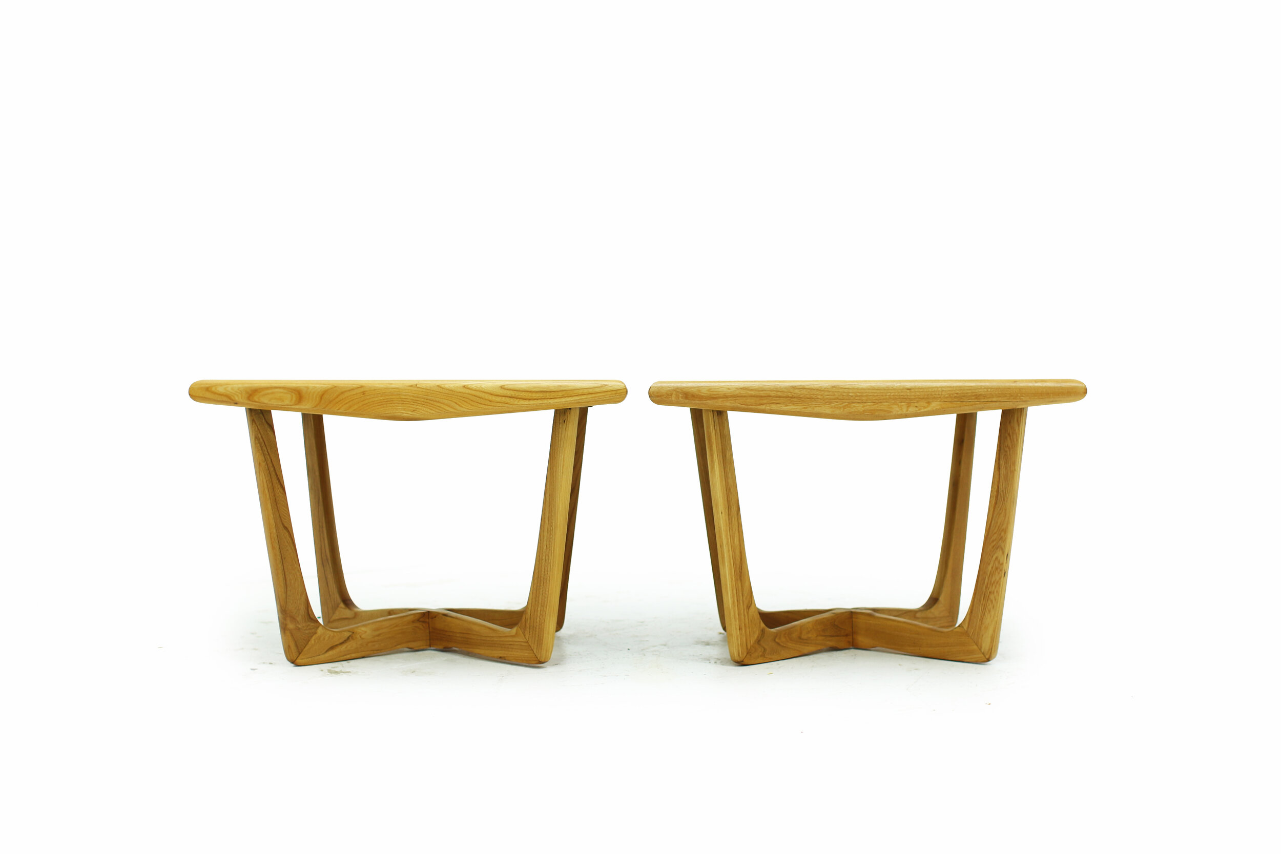 Mid Century Walnut and Ash Side Tables with Beautiful Bases (1).jpg