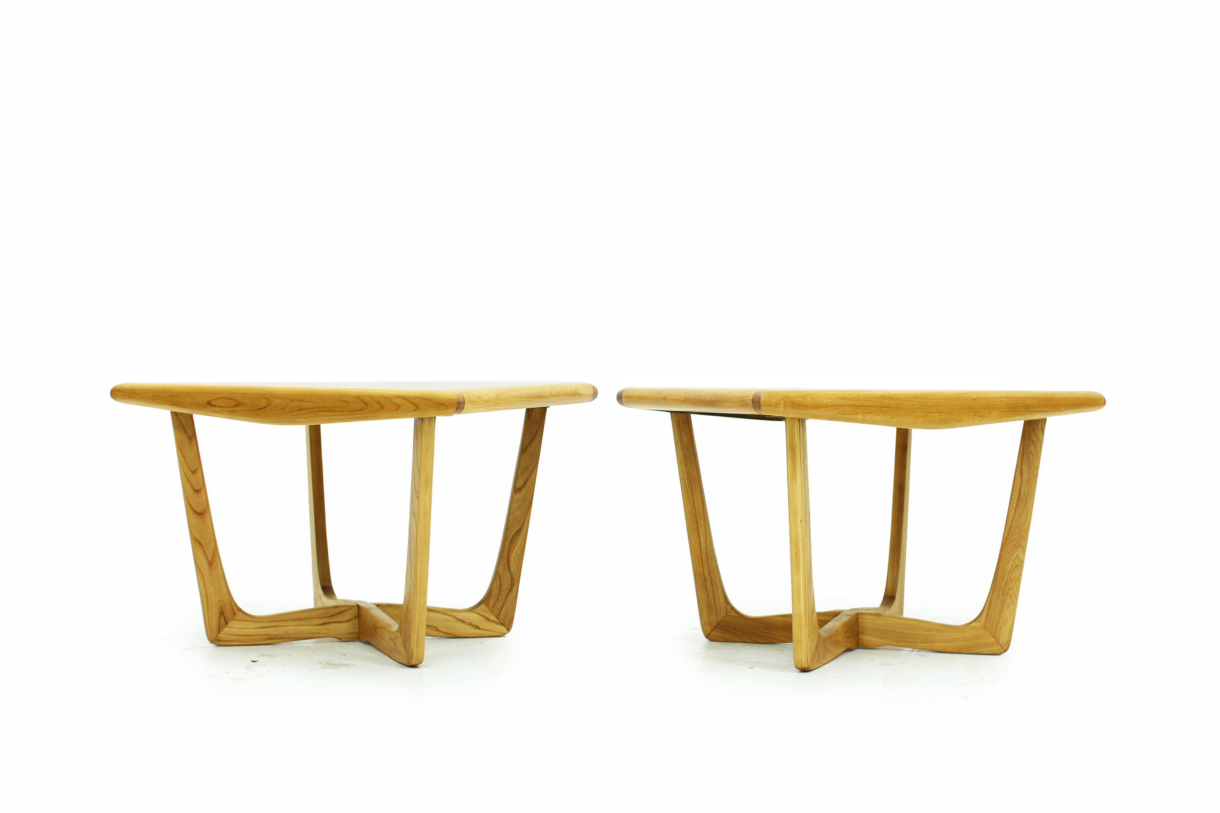 Mid Century Walnut and Ash Side Tables with Beautiful Bases (3).jpg