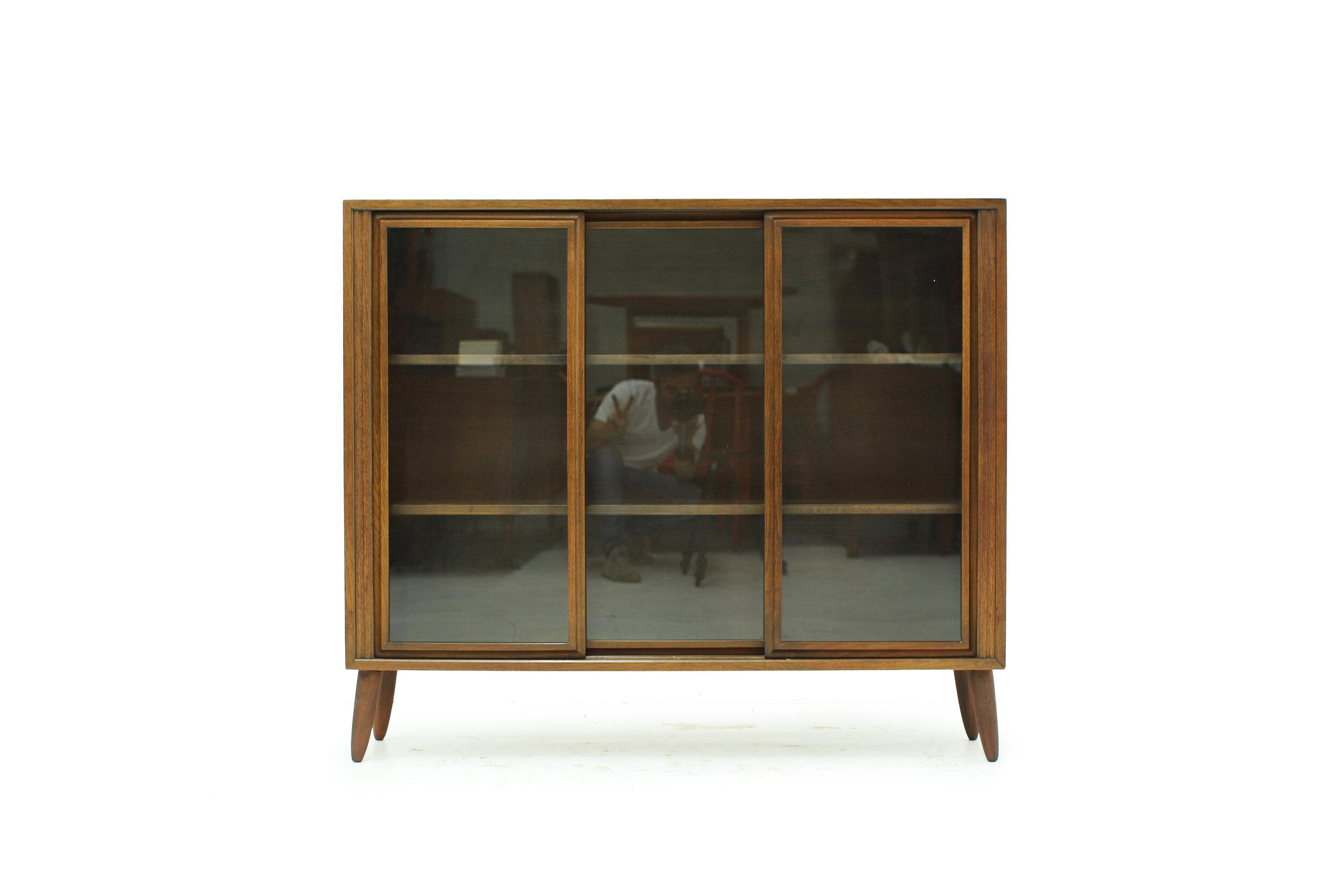 MCM Walnut and Glass Display Cabinet (1).jpg