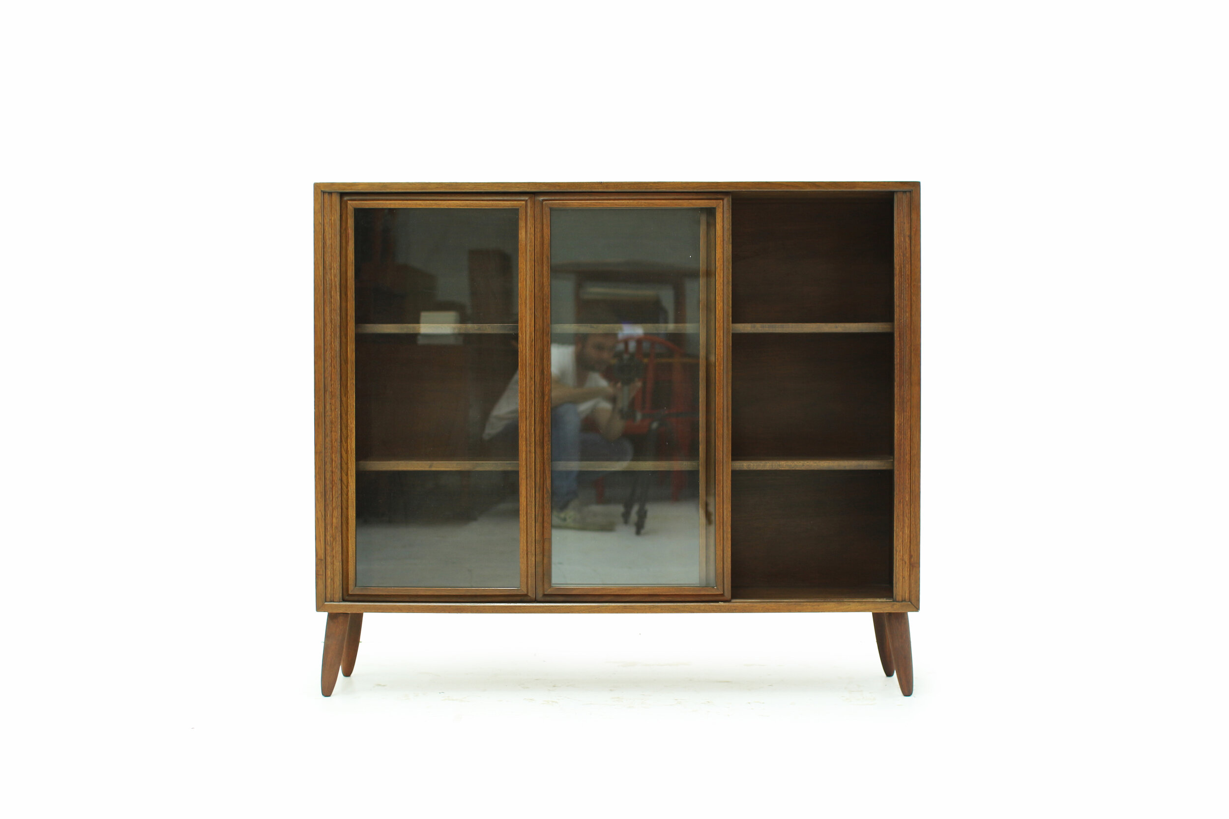 MCM Walnut and Glass Display Cabinet (5).jpg