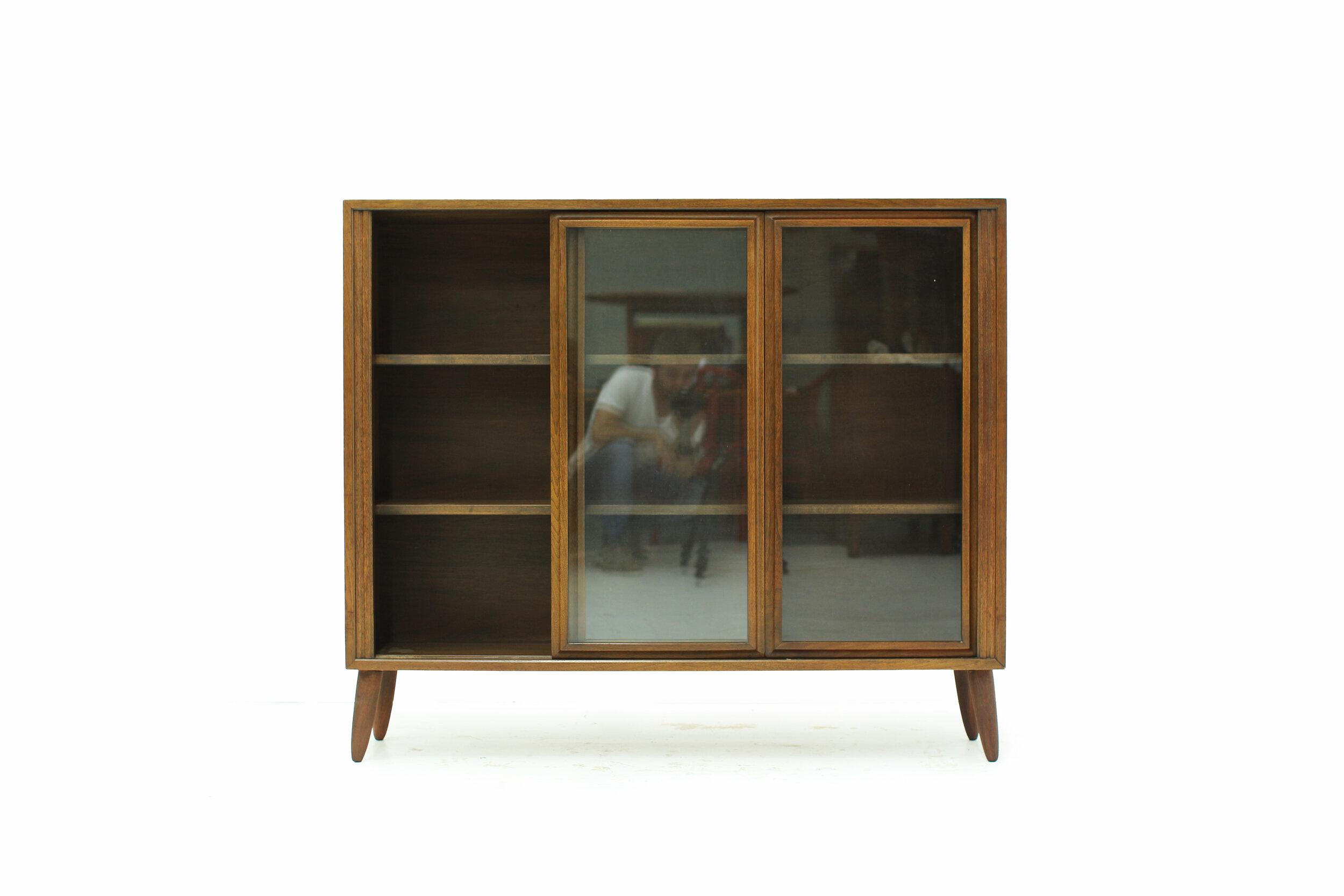 MCM Walnut and Glass Display Cabinet (4).jpg