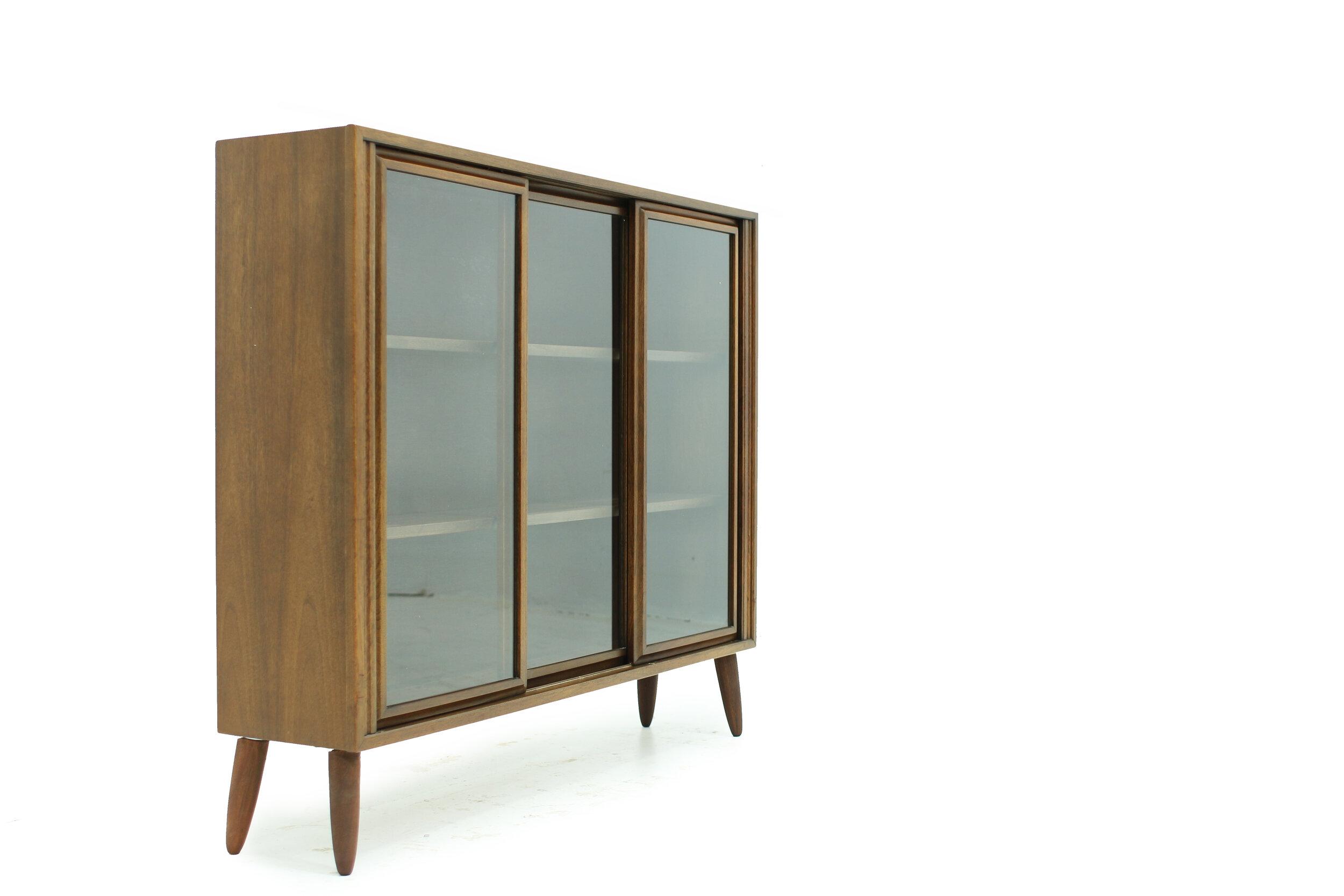 MCM Walnut and Glass Display Cabinet (3).jpg