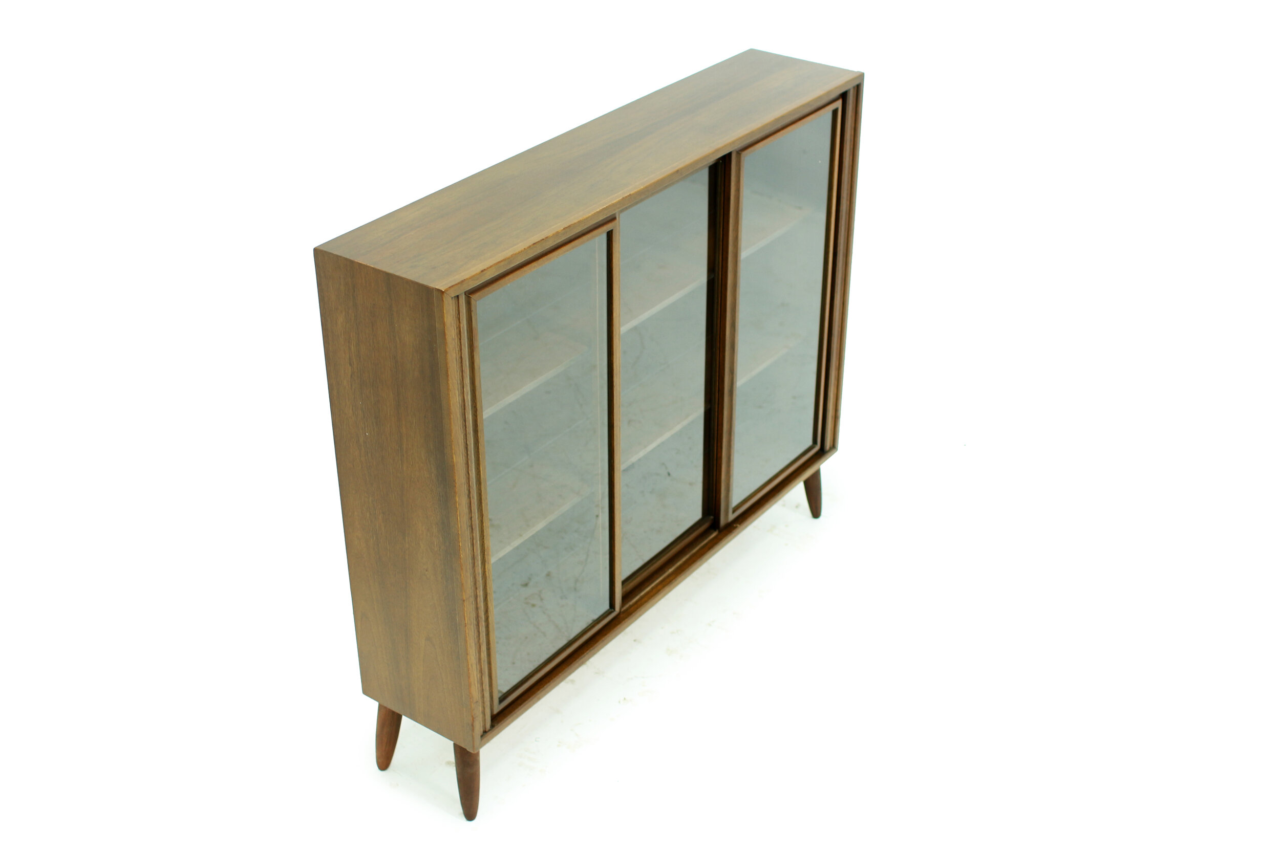 MCM Walnut and Glass Display Cabinet (2).jpg