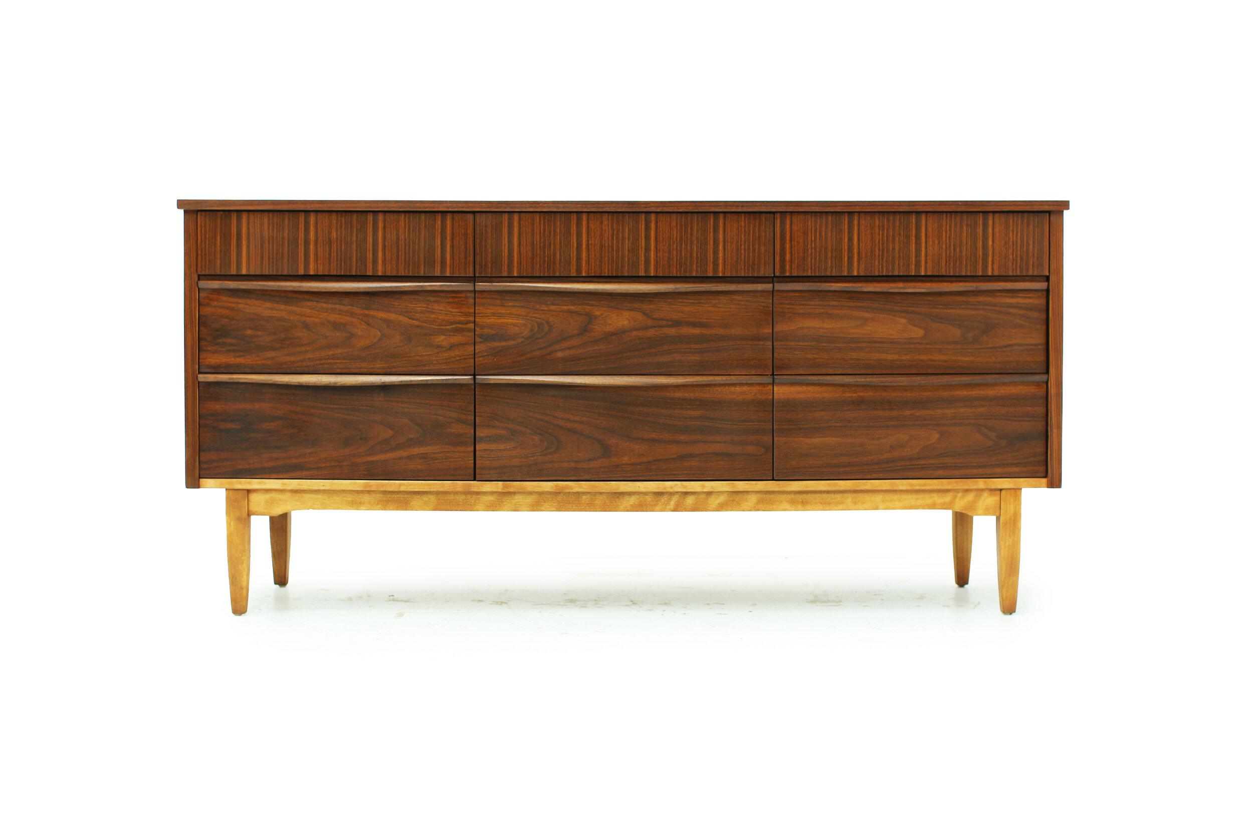 Mid Century Walnut Dresser - 9 Drawer (1).jpg