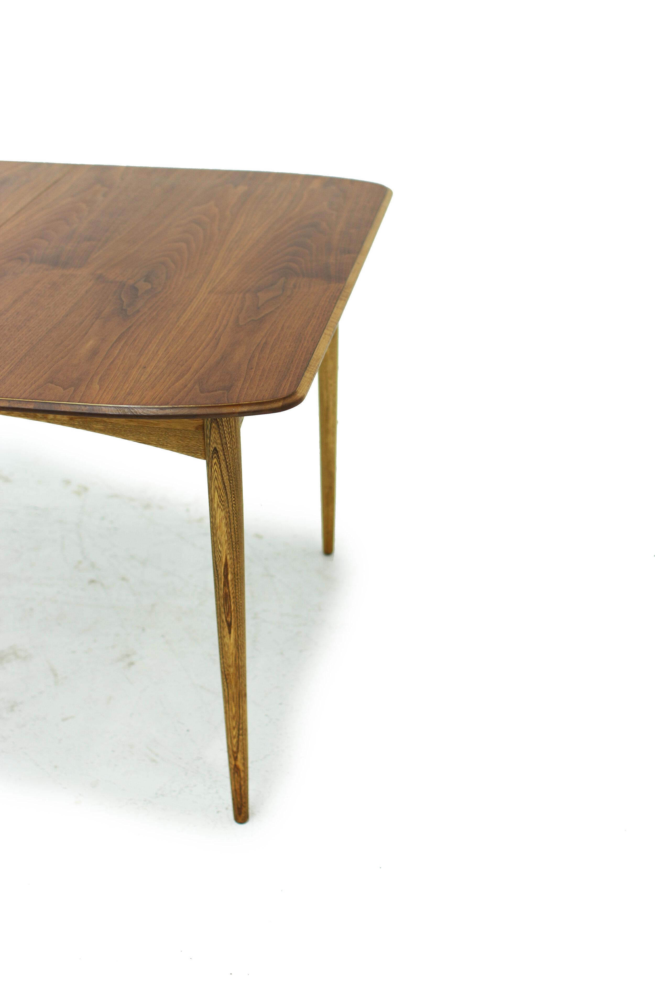 Mid Century Walnut and Ash Dining Table (3).jpg