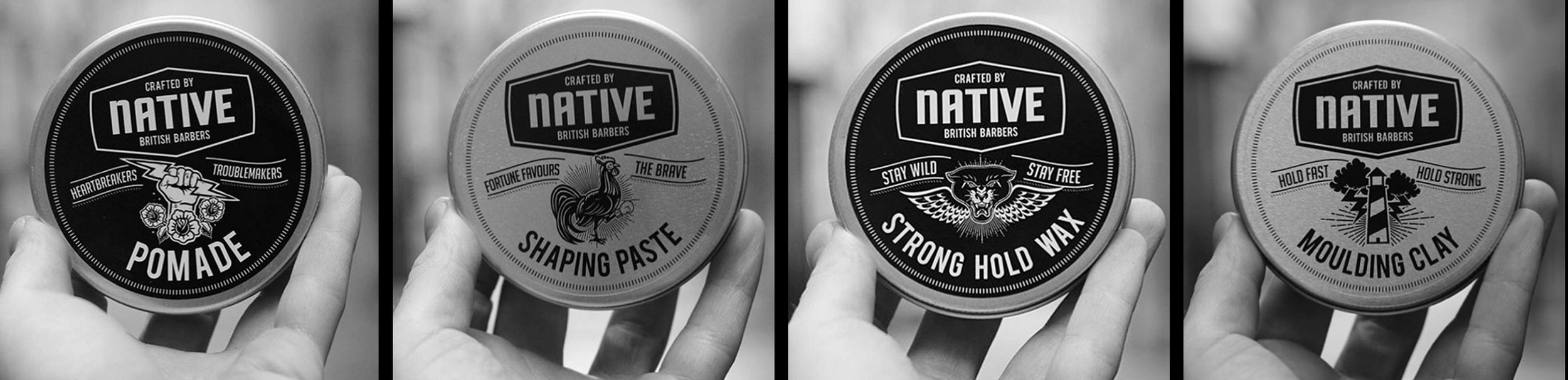 Native Products Pomade | Shaping Paste | Strong Hold Wax | Moulding Clay