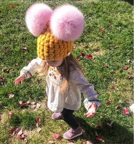 marigold toddler Mickey Mouse • baby pink xl poms