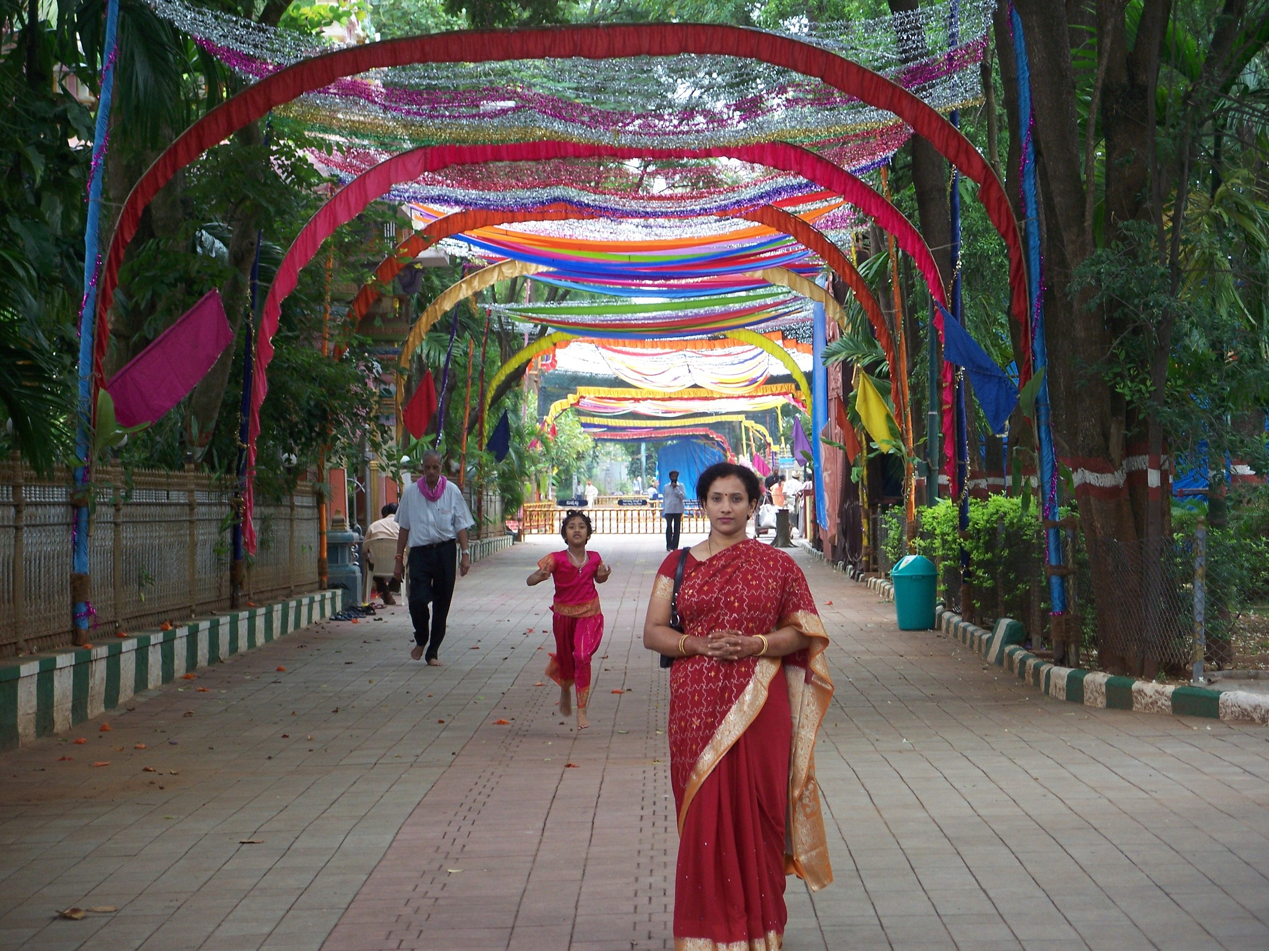 Navaratri Ashram decorations.JPG