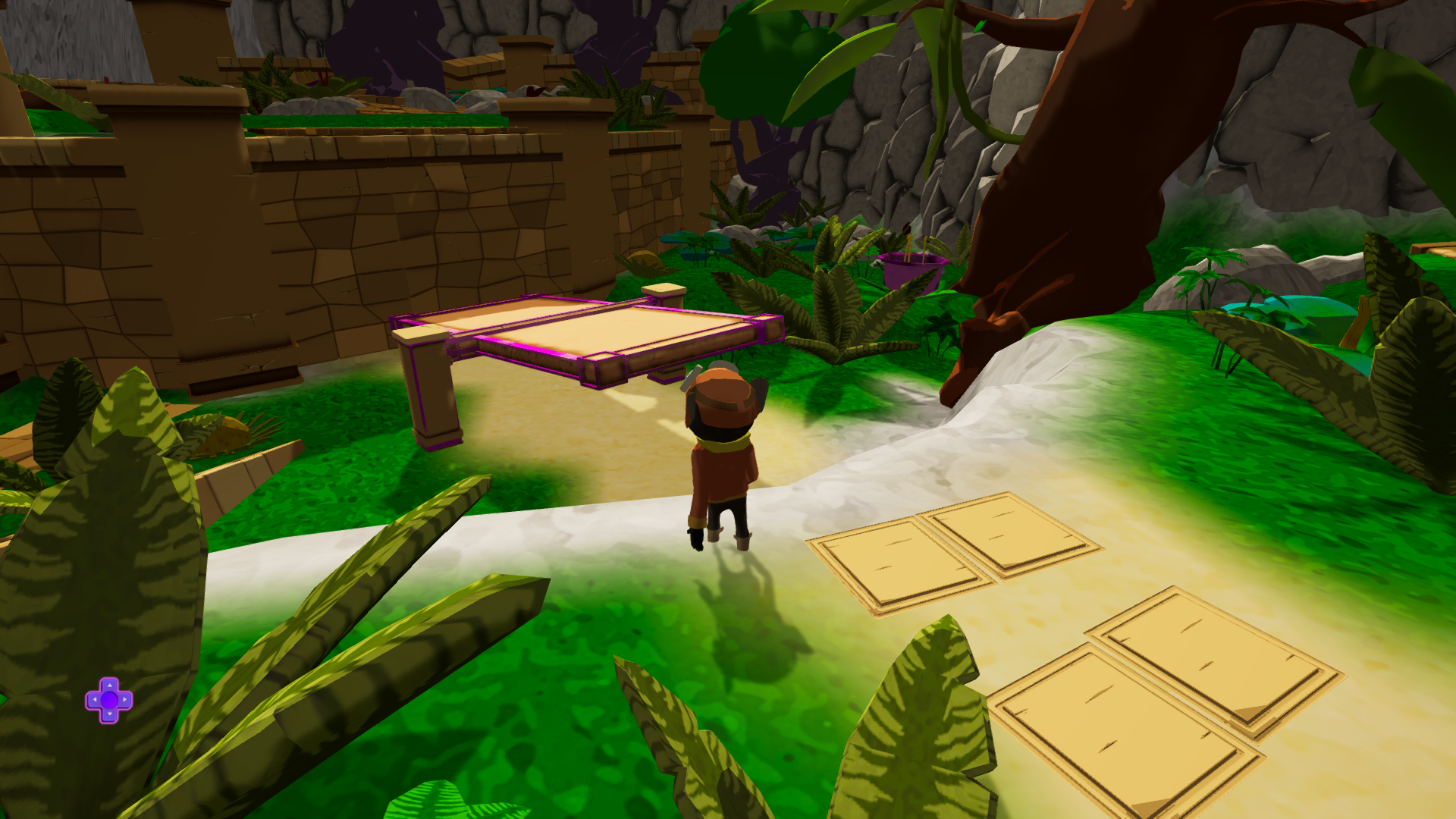 Figure 2: The seesaw intended for familiarize the player with game physics in platforming