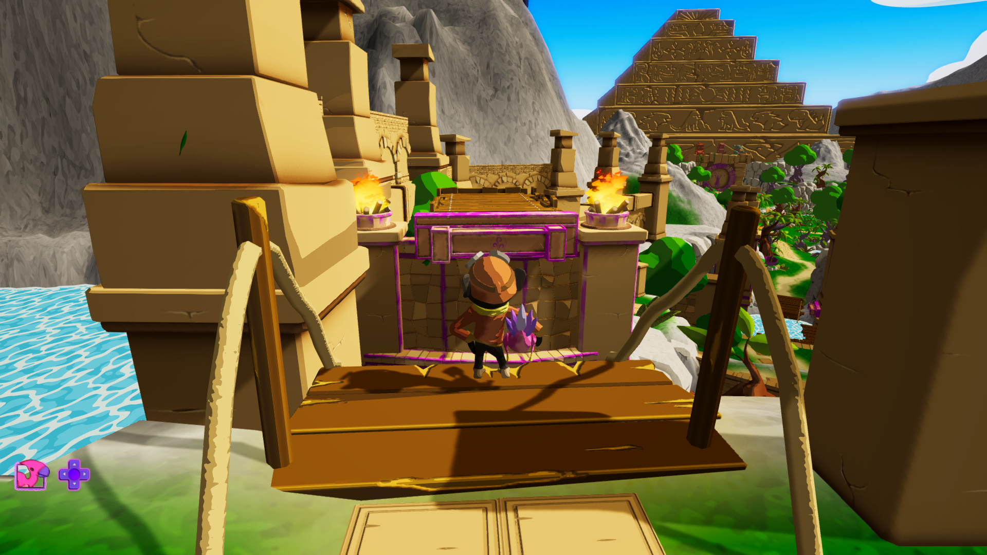 Figure 3: The first wind platform, marked in the middle with the same symbol used for the wind power in the game's Dinodex