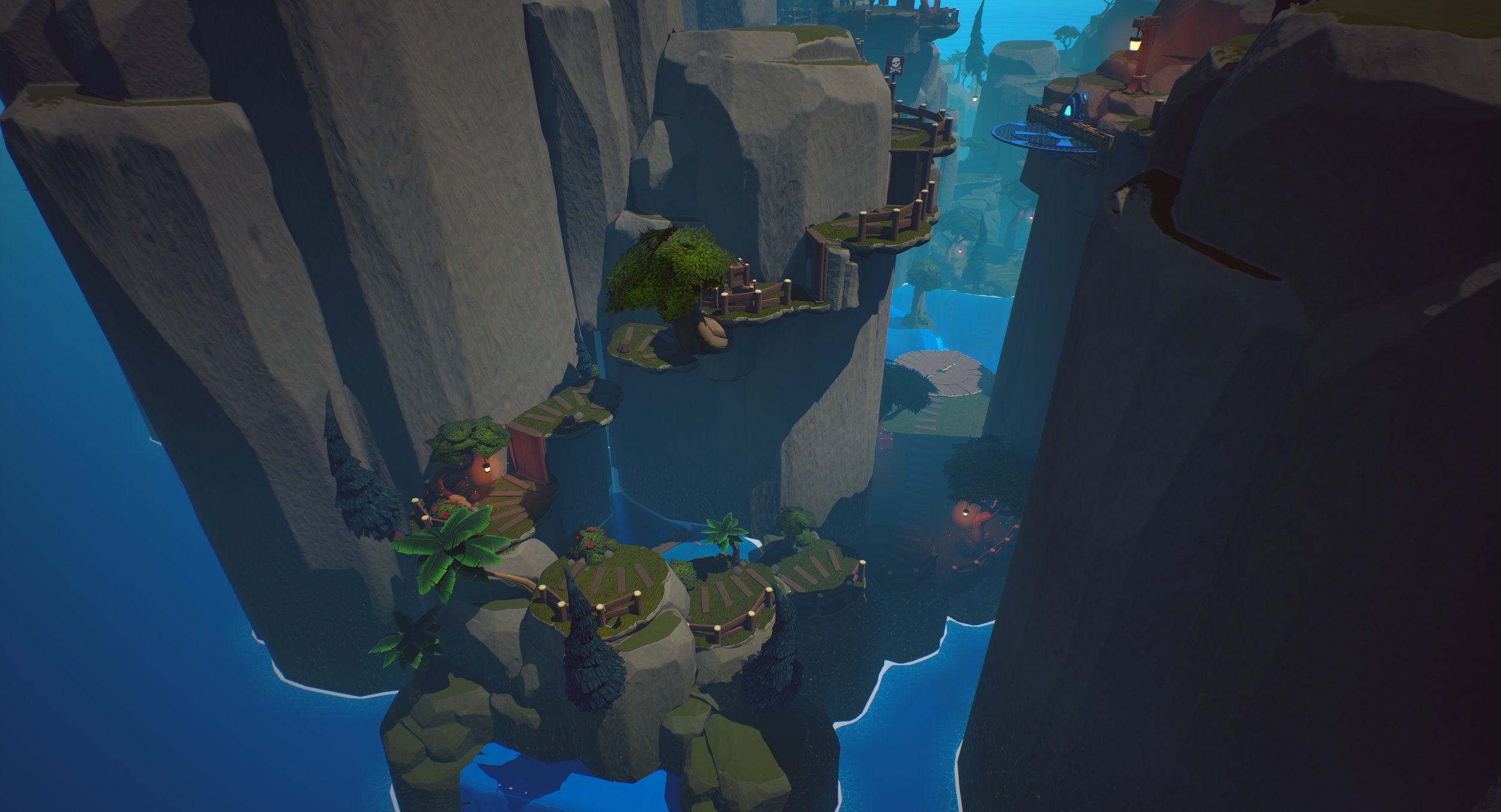 Figure 4: The last bit of platforming as the player gains some vertical ground before the final fight
