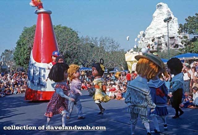 Donna (in red) at Disneyland