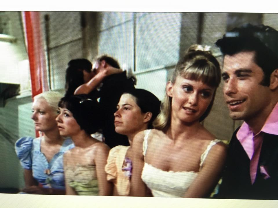 Donna (in green) in  Grease