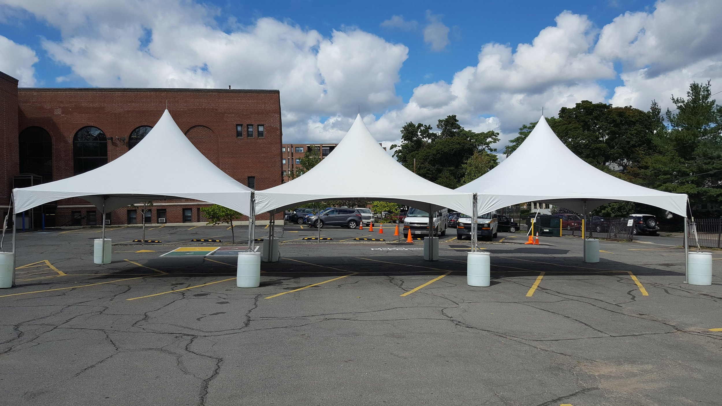 20x60 tent for school event in Boston MA