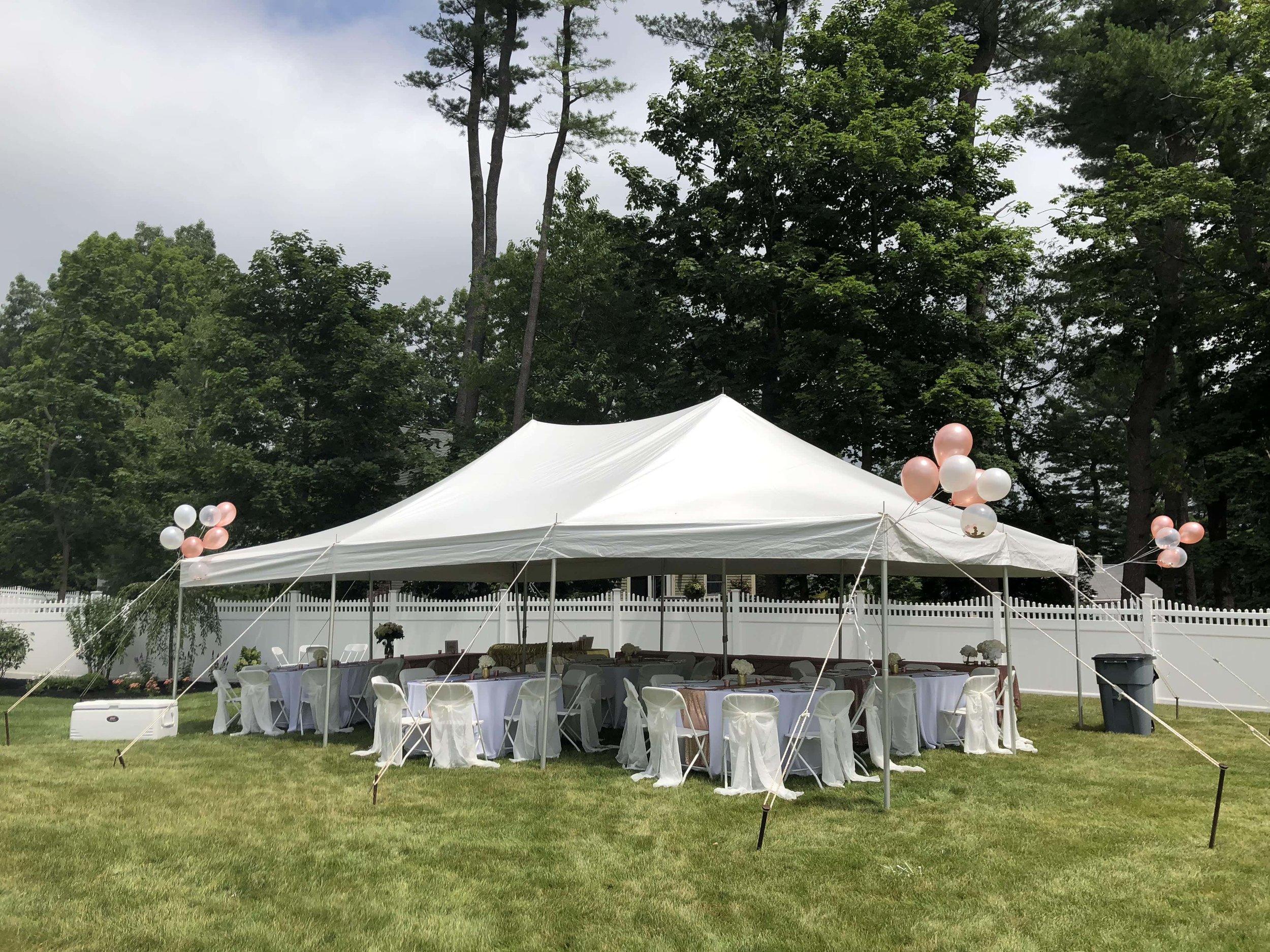 baby shower tent rental