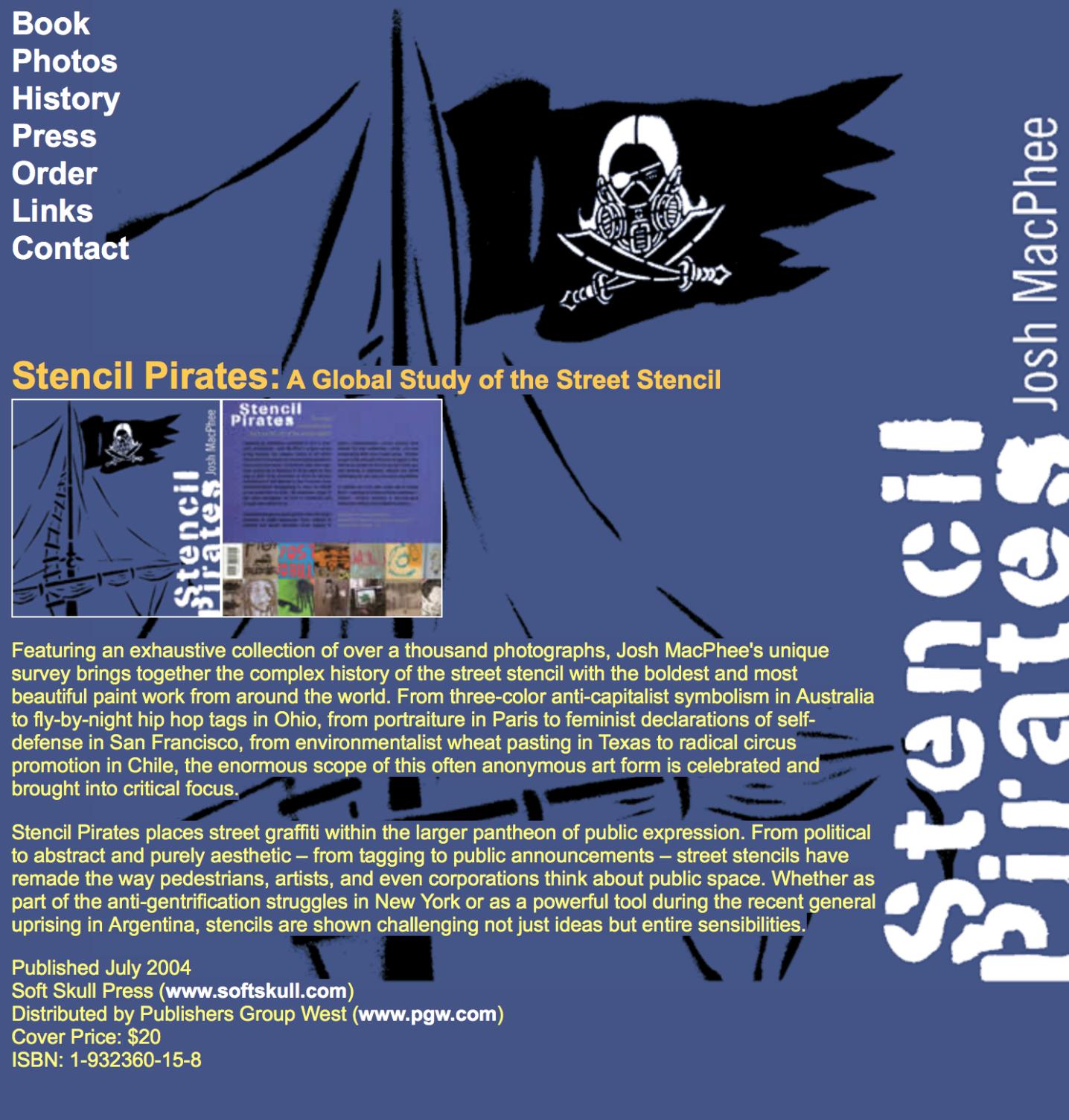 WORK FEATURED IN THE BOOK STENCIL PIRATES - WORK FEATURED IN THE BOOK STENCIL PIRATESby Josh MacPhee | 2004Soft Skull PressISBN: 1-932360-15-8