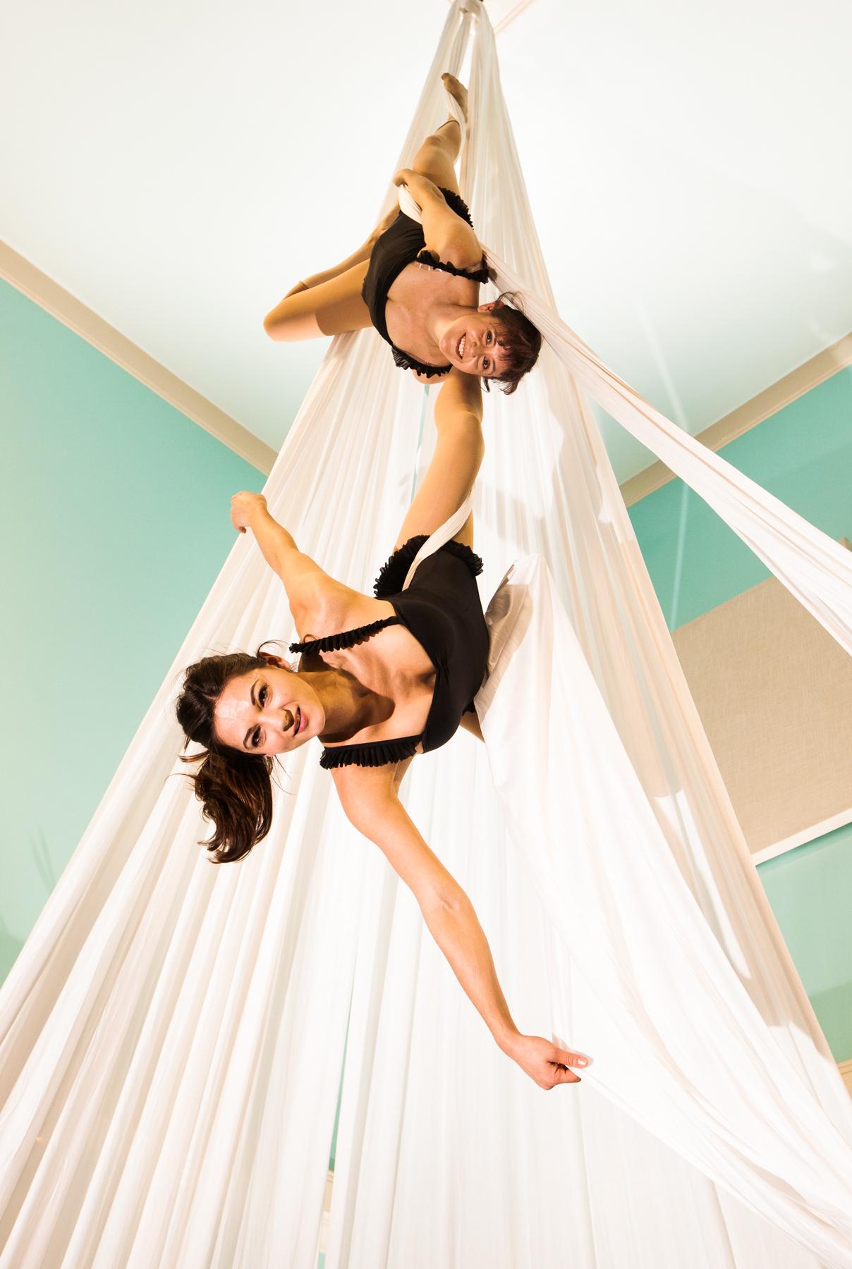 Upbeat Aerial Silks Duo