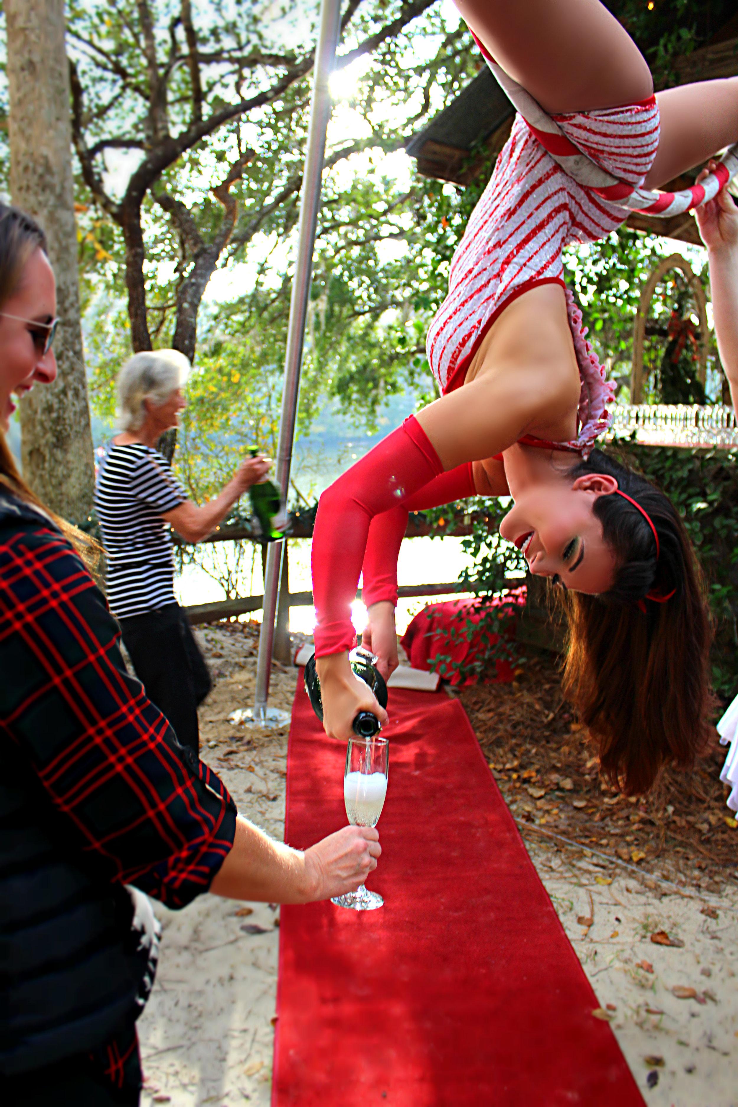 Aerial Events Champagne Serving Bartending Entertainment Destin