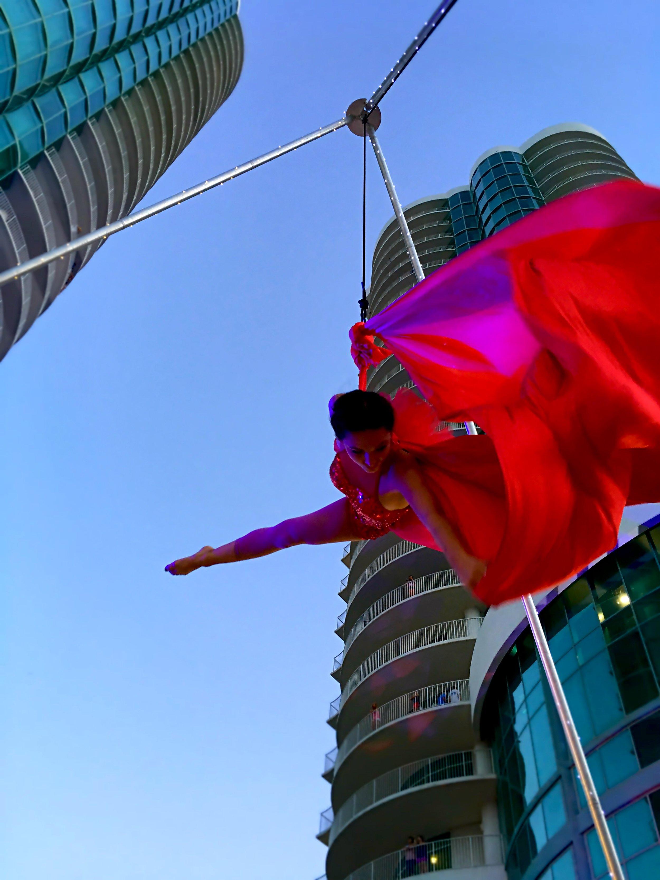 Destin Aerial Events Sling Hammock Dance Entertainment