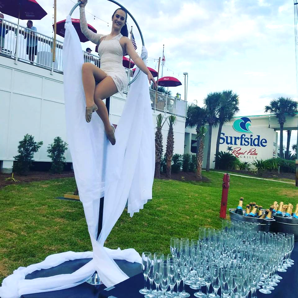 Lollipop Destin Aerial Events Champagne Bartending Entertainment