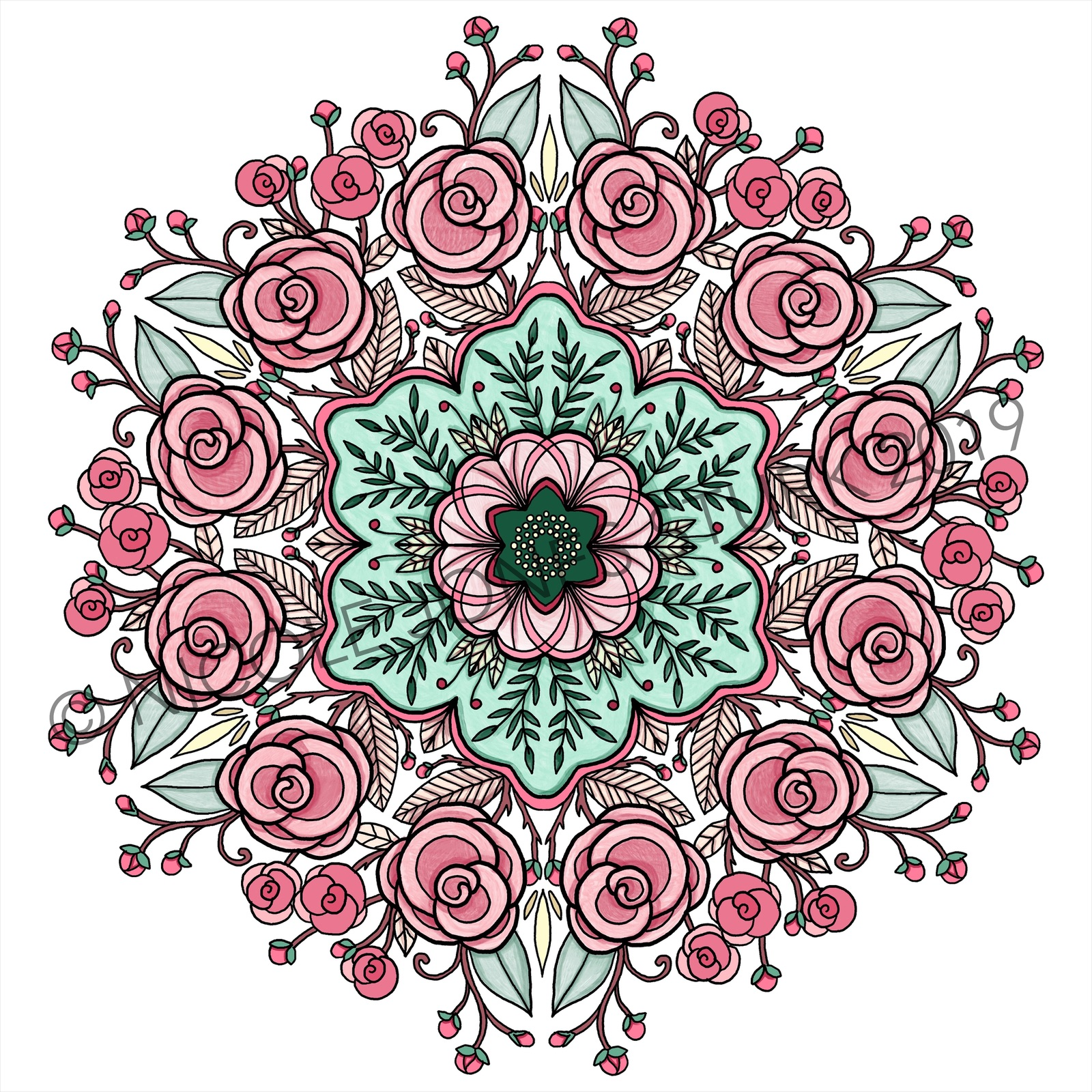 Colored mandala used for the cover art.