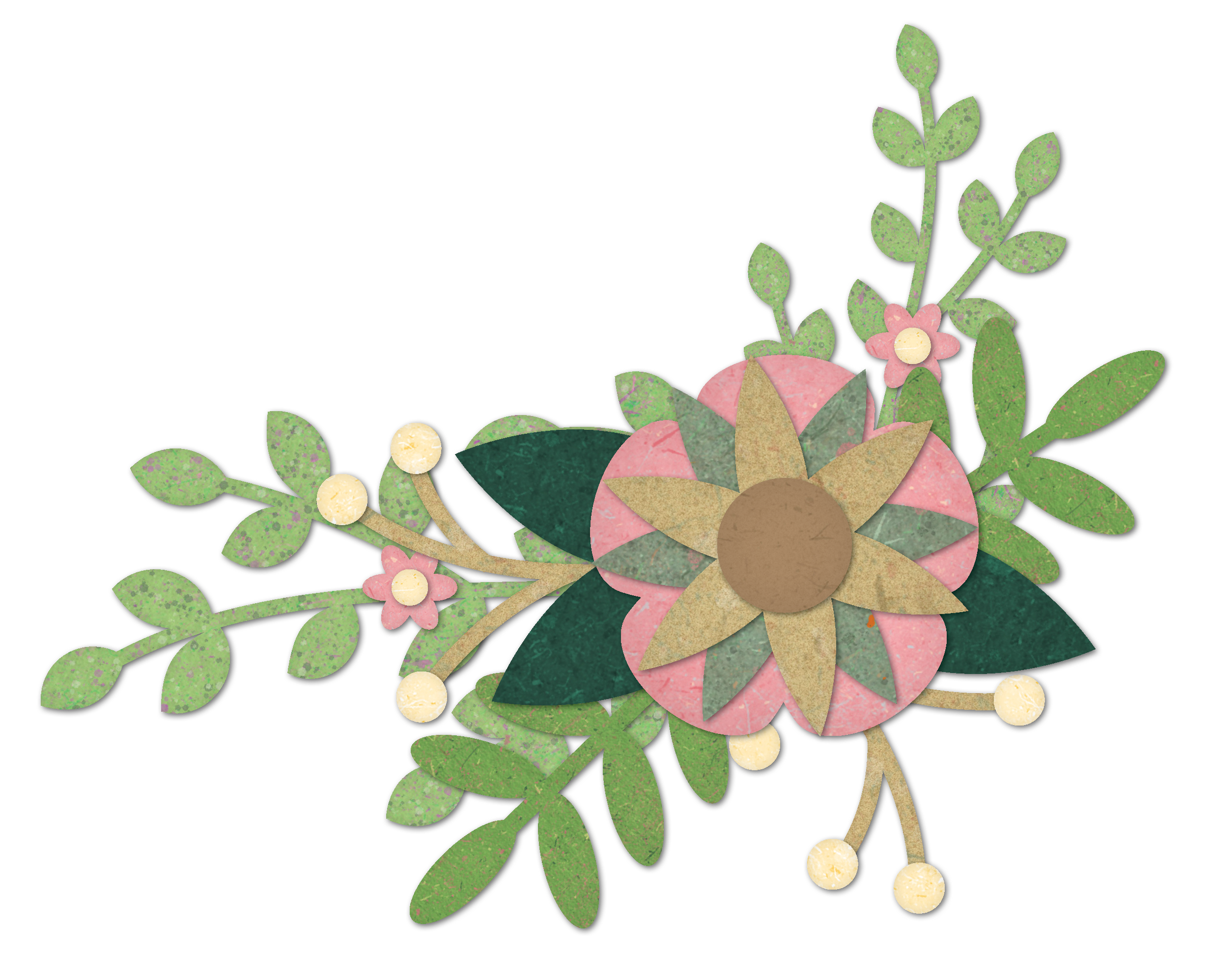 Sample from my  Paper Plants clip art set
