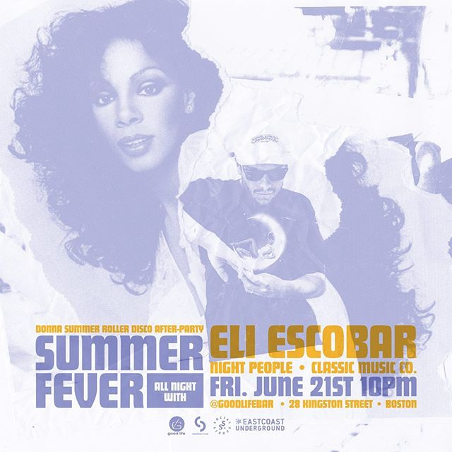 TONIGHT! We are the OFFICIAL after-party for the Donna Summer Roller Disco at Boston City Hall! Downstairs @eliescobarnyc will be playing ALL. NIGHT. LONG. 😊 Upstairs @djreeldrama provides the hip-hop & reggae. LET'S GO!!!!💃🕺