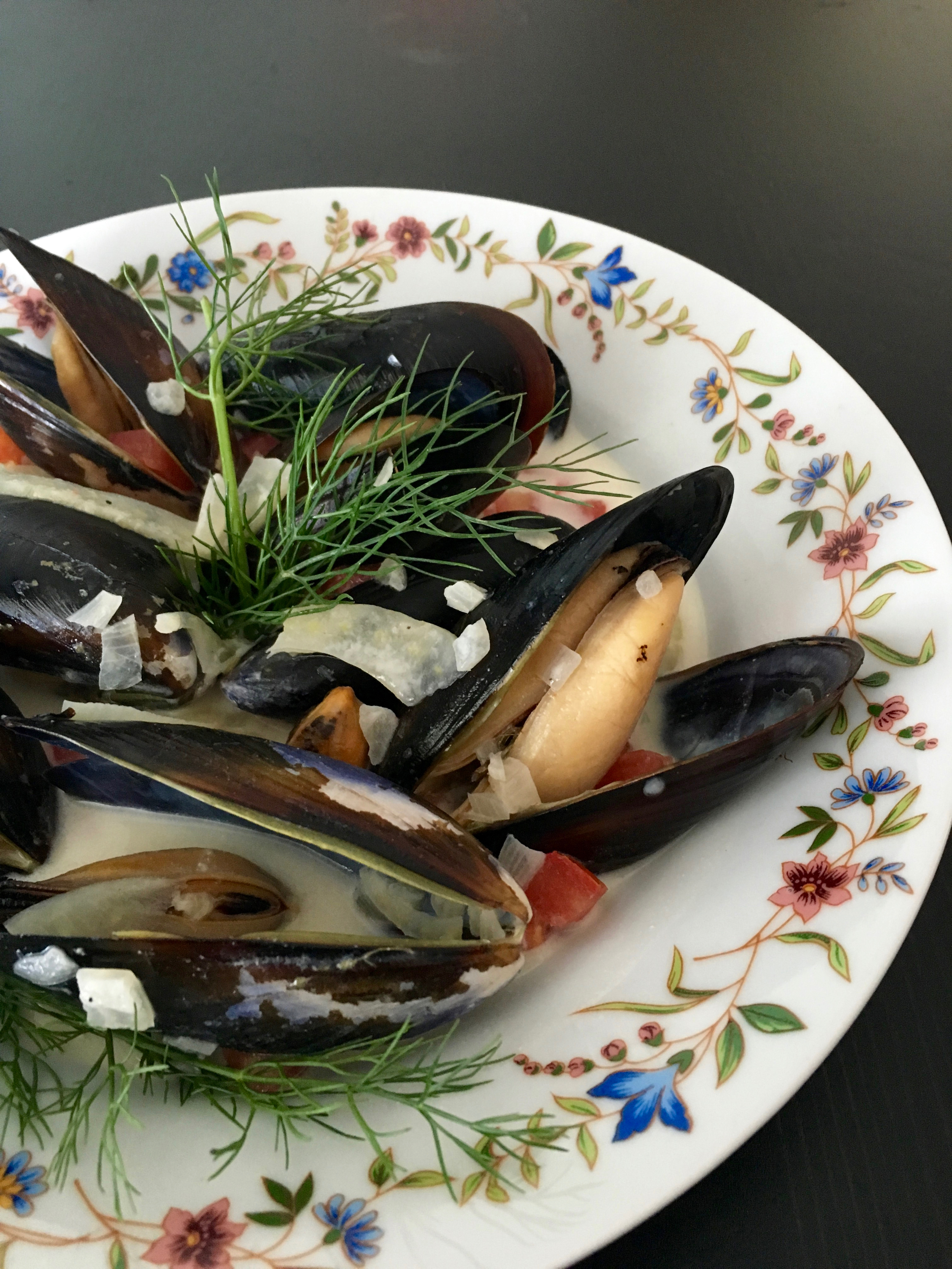 Roasted Mussels with Fennel