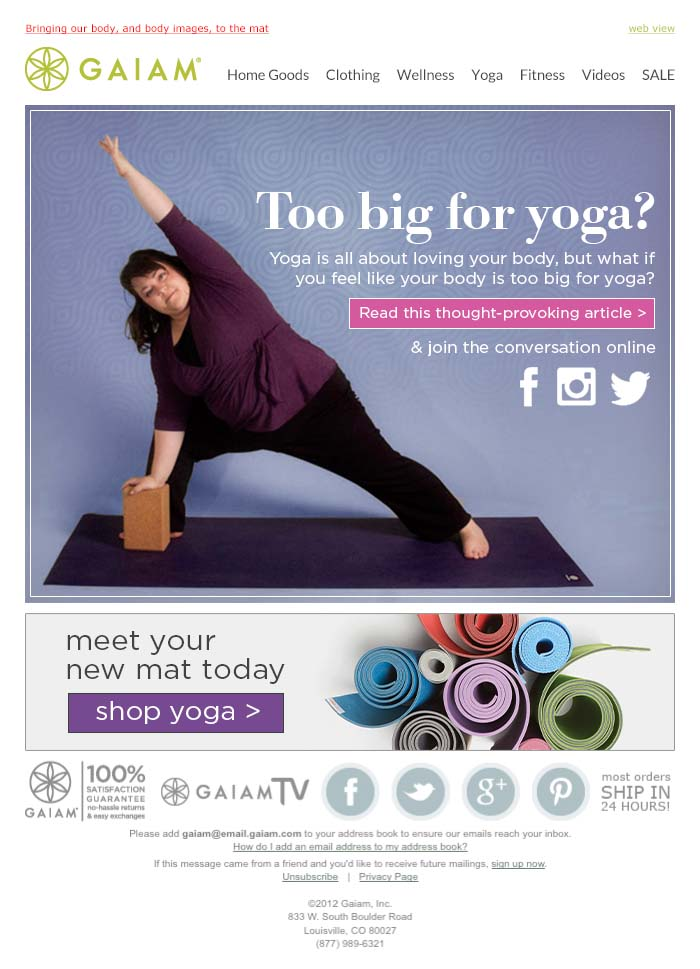 Yoga for Everybody Email