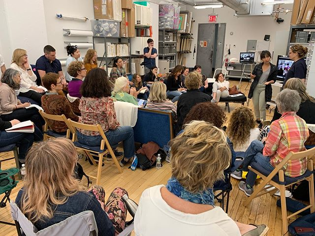 Yesterday I opened my studio in #Dumbo #Brooklyn to participants of my @creative_capital online workshop, @svamfafinearts grads & other artists to share their wants & needs. Artists like @kathrynhartart #DaniDodge #sarahbethwoods @miarisbergart @kris224 #LaurieFrick #ElisabethCondon @yuradams @emilynoellelambert #KylieHeidenheimer @chasonsokol @marionwilsonart @jennafayepowell @sallyveachart came from #LA, #Denver #Chicago #Durham, NC #Michigan #Boston #NewJersey and other parts to gather together. Guests @brettwallacenyc @jendalton_ talked about their work, remote studio visits & collaboration; artist @kimbells2037 talked about her space #NorthWillows in #Montclair #NJ & @patriciasuzannemiranda crit groups. Artists also attended via #Zoom virtually from all over the US including #CindiGaudette #SuzanShutan #MichelleRogers and more. And then #MatthewDeleget picked up everyone to go to @minus_space after people exchanged their contact information, shared their needs & made important connections. It was very moving & productive. Thank you @alexteplitzky & everyone for coming! I will do this again in November and this time open it up to Creative Capital Workshop Alumni. It's awesome when artists come together. 😁🥰❤️