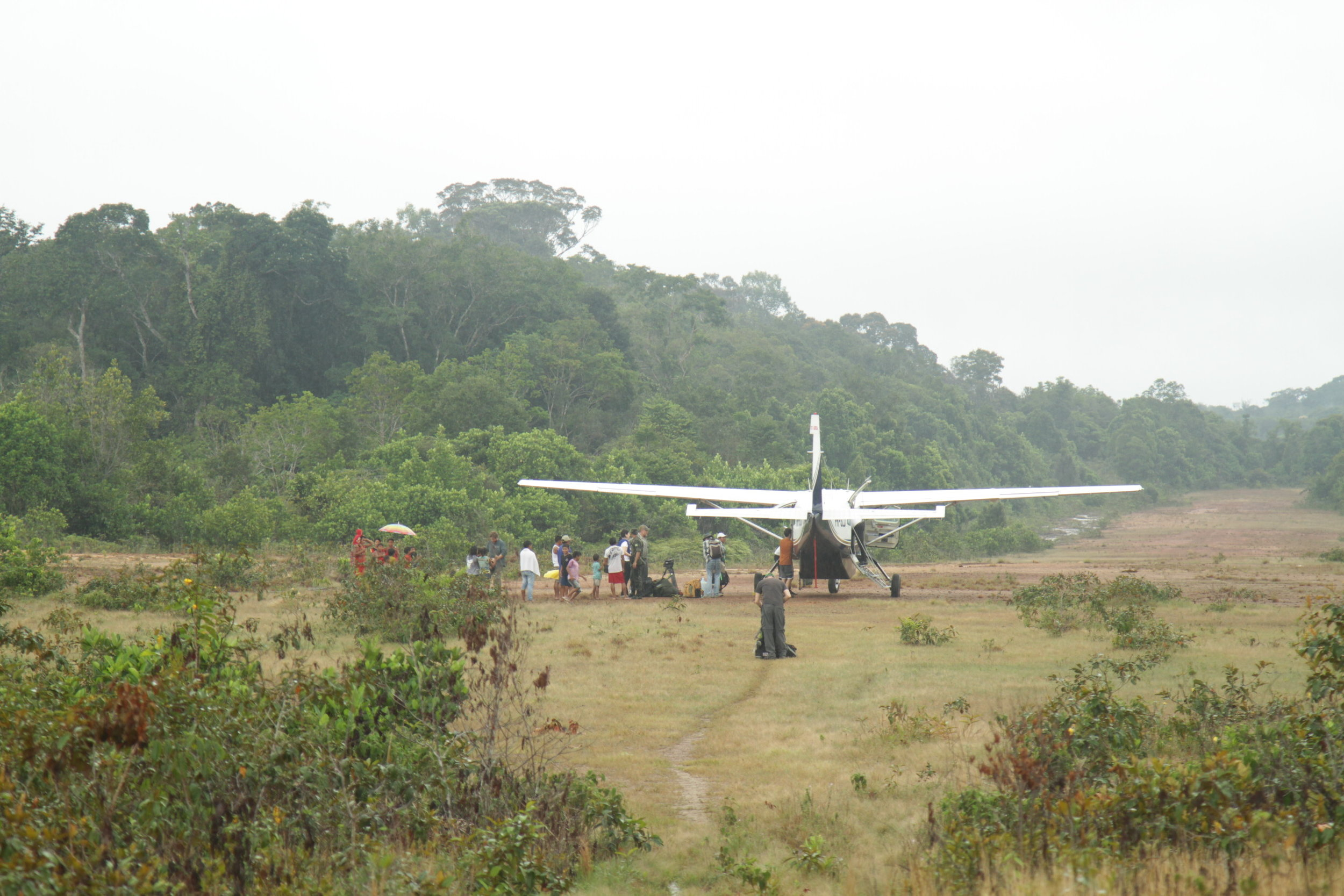 9 seater plane rented by production to access this very remote region