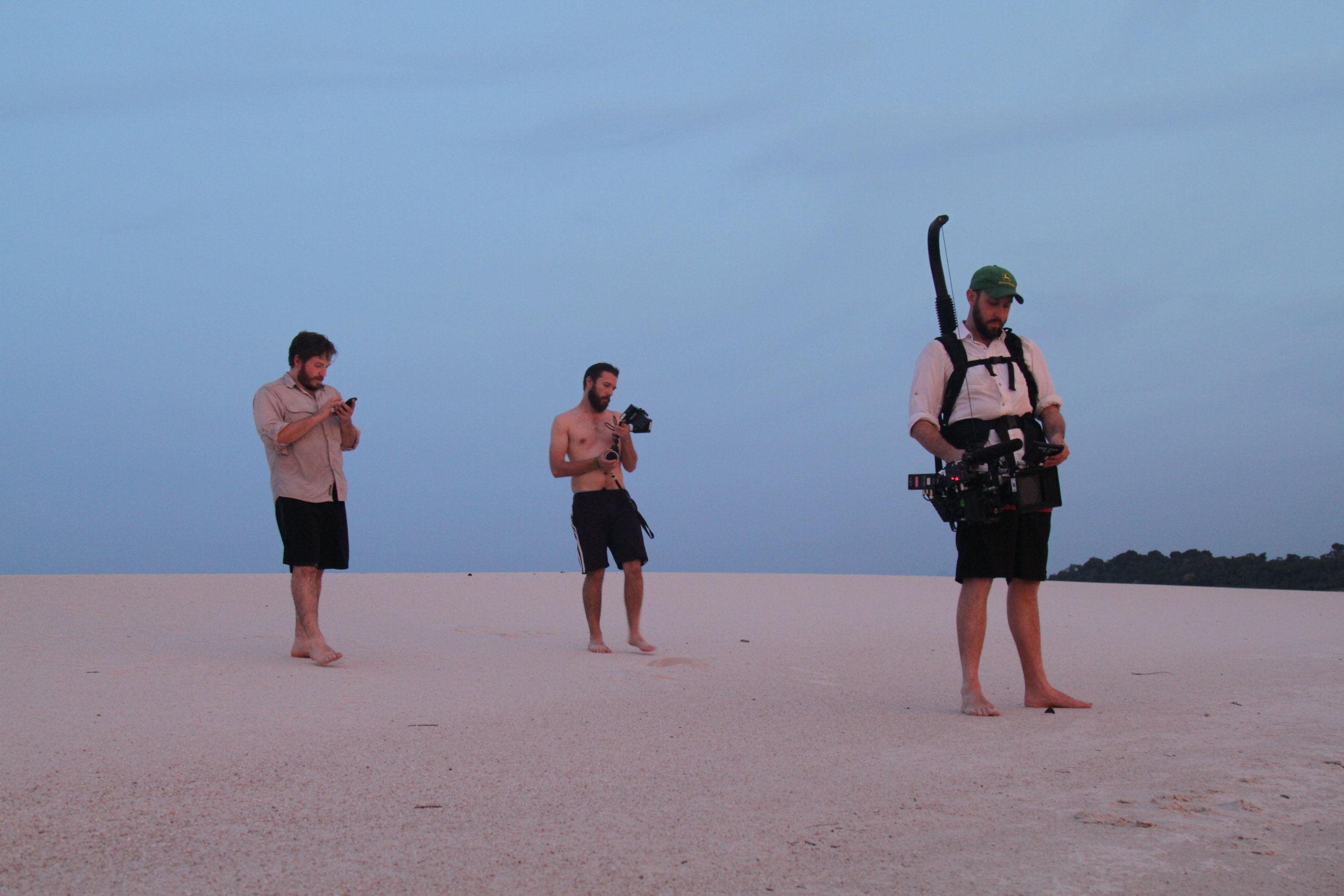 Crew getting images of Atala fishing in São Gabriel Cachoeira