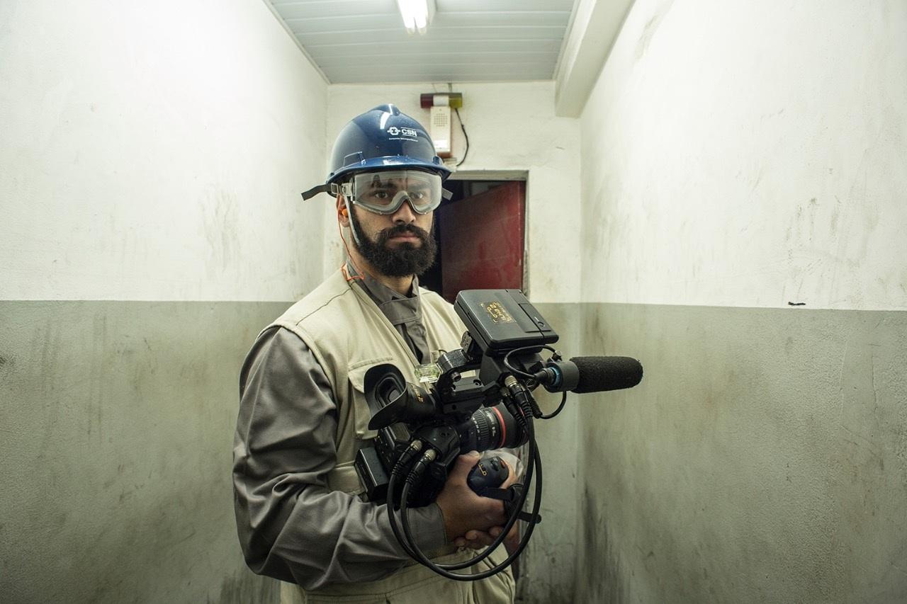 Nosso diretor de fotografia Felipe Derzié. Foto por Karima Shehata