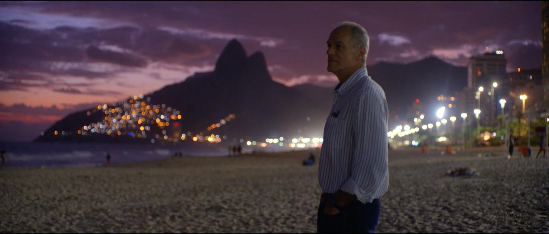 Marcelo Gleiser at Copacabana Beach, in Rio de Janeiro, Brazil