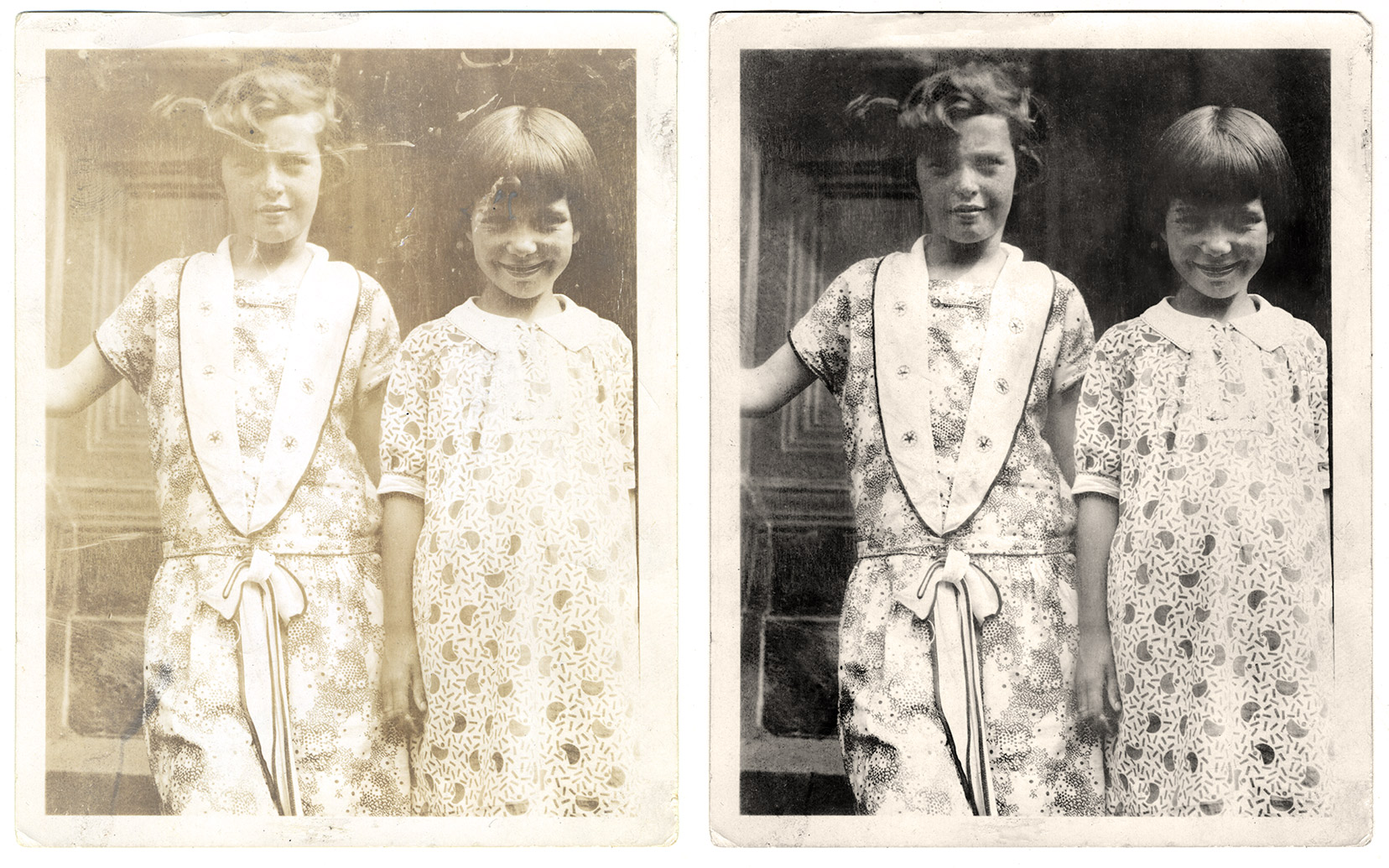 Restoring an Old Photograph Before and After