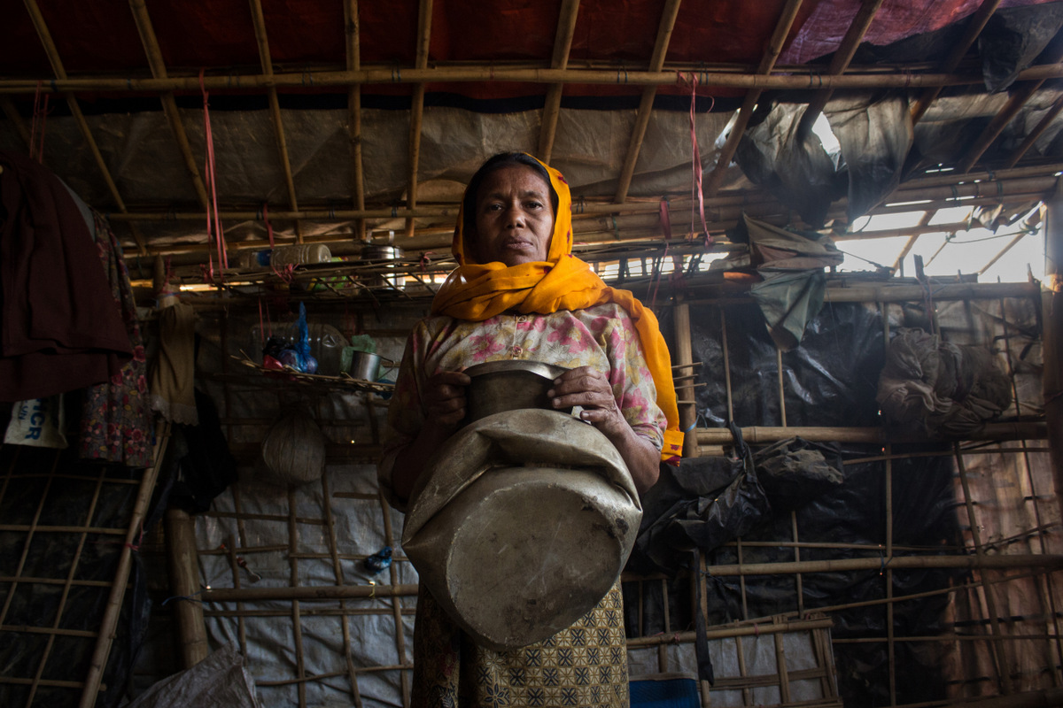 Refugees fleeing violence in Myanmar have a new worry: elephants