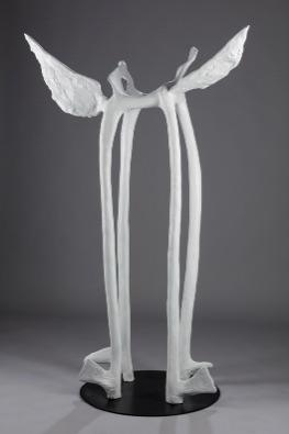 Helen Evans Ramsaran, Winged Moondance, 1994, painted with bronze steel elements, 64 inches (162.56cm
